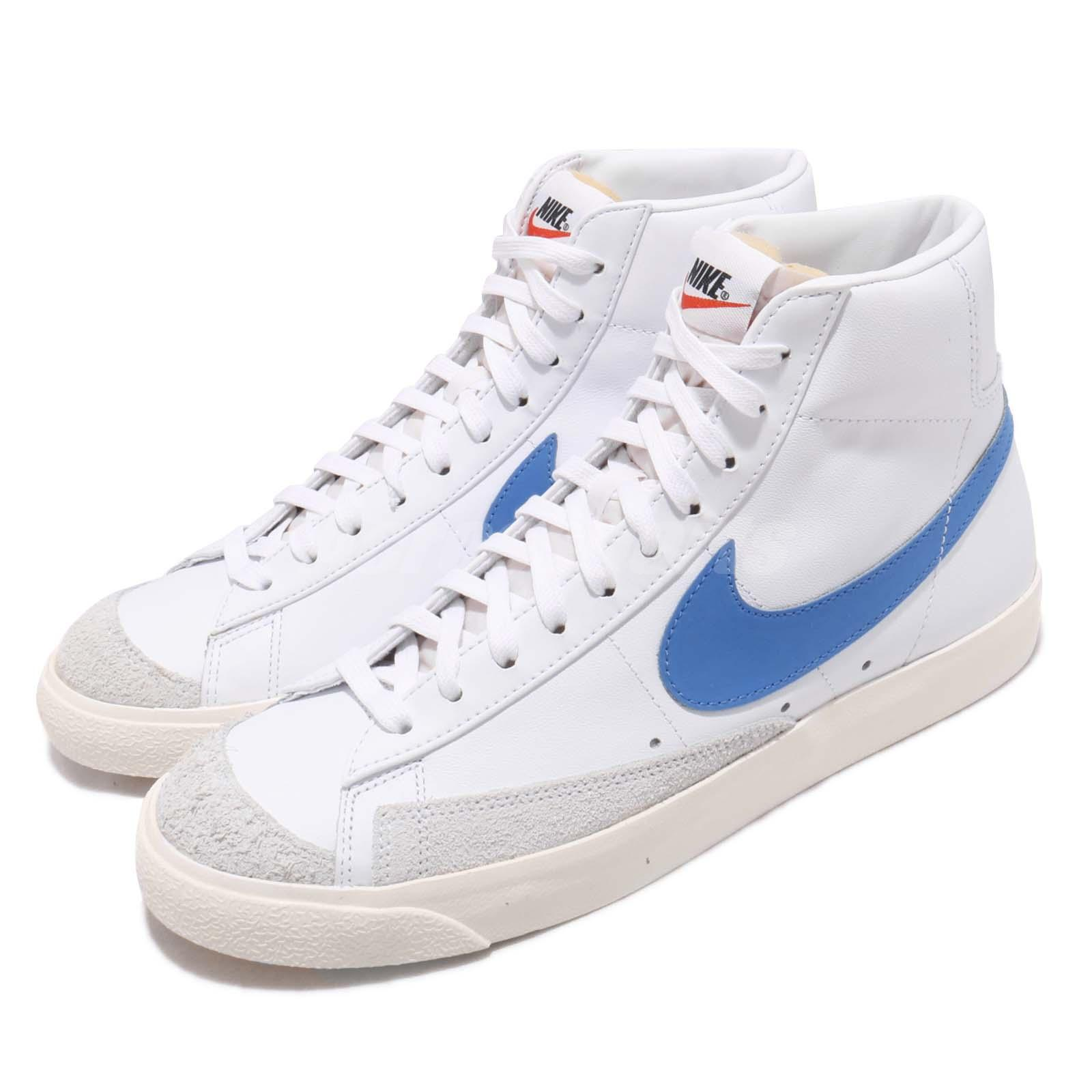 timeless design 2bbe3 d4f81 Nike Blazer Mid 77 VNTG Sail White Pacific Blue Vintage Mens Shoes ...