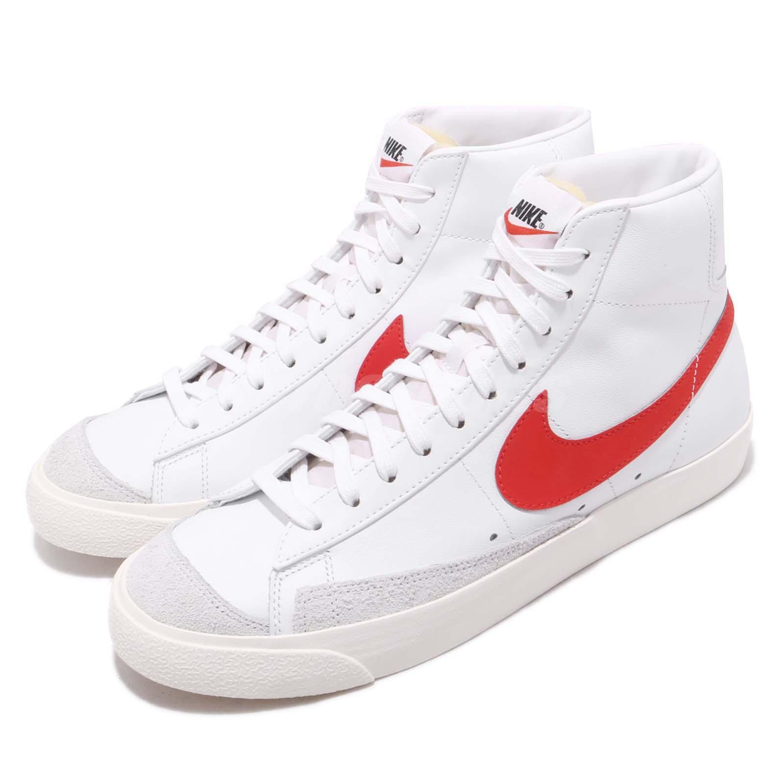 online store 968ef 7798b Details about Nike Blazer Mid 77 VNTG White Habanero Red Vintage Style Mens  Shoes BQ6806-600