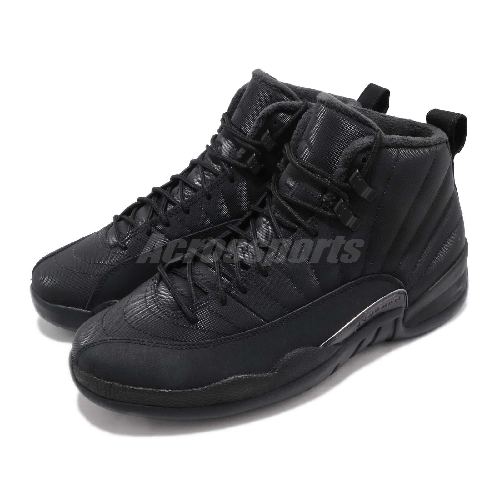 effed982549d2f Details about Nike Air Jordan 12 Retro WNTR Winterized AJ12 XII Black Men  Shoes BQ6851-001