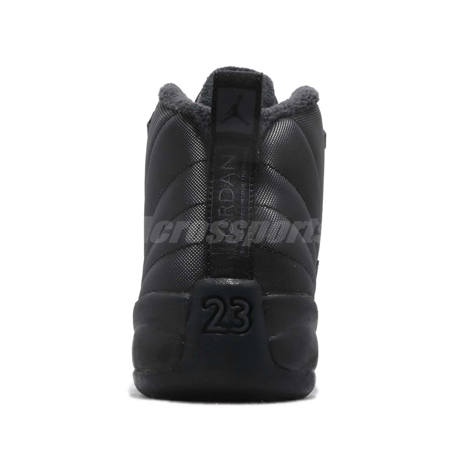 19dc429d6c4eb2 Nike Air Jordan 12 Retro WNTR GS AJ12 XII Winterized Black Kid Women ...