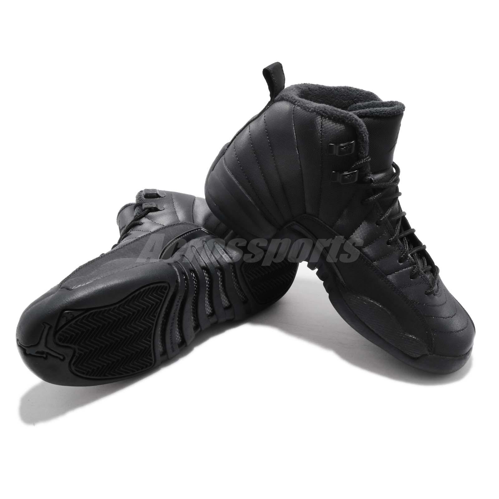 Details about Nike Air Jordan 12 Retro WNTR GS AJ12 XII Winterized Black Kid Women BQ6852 001