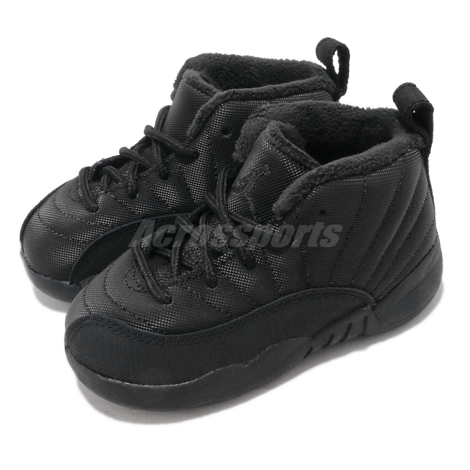 new styles eeb92 181b6 Details about Nike Jordan 12 Retro WNTR TD Winterized AJ12 XII Toddler  Infant Shoes BQ6853-001