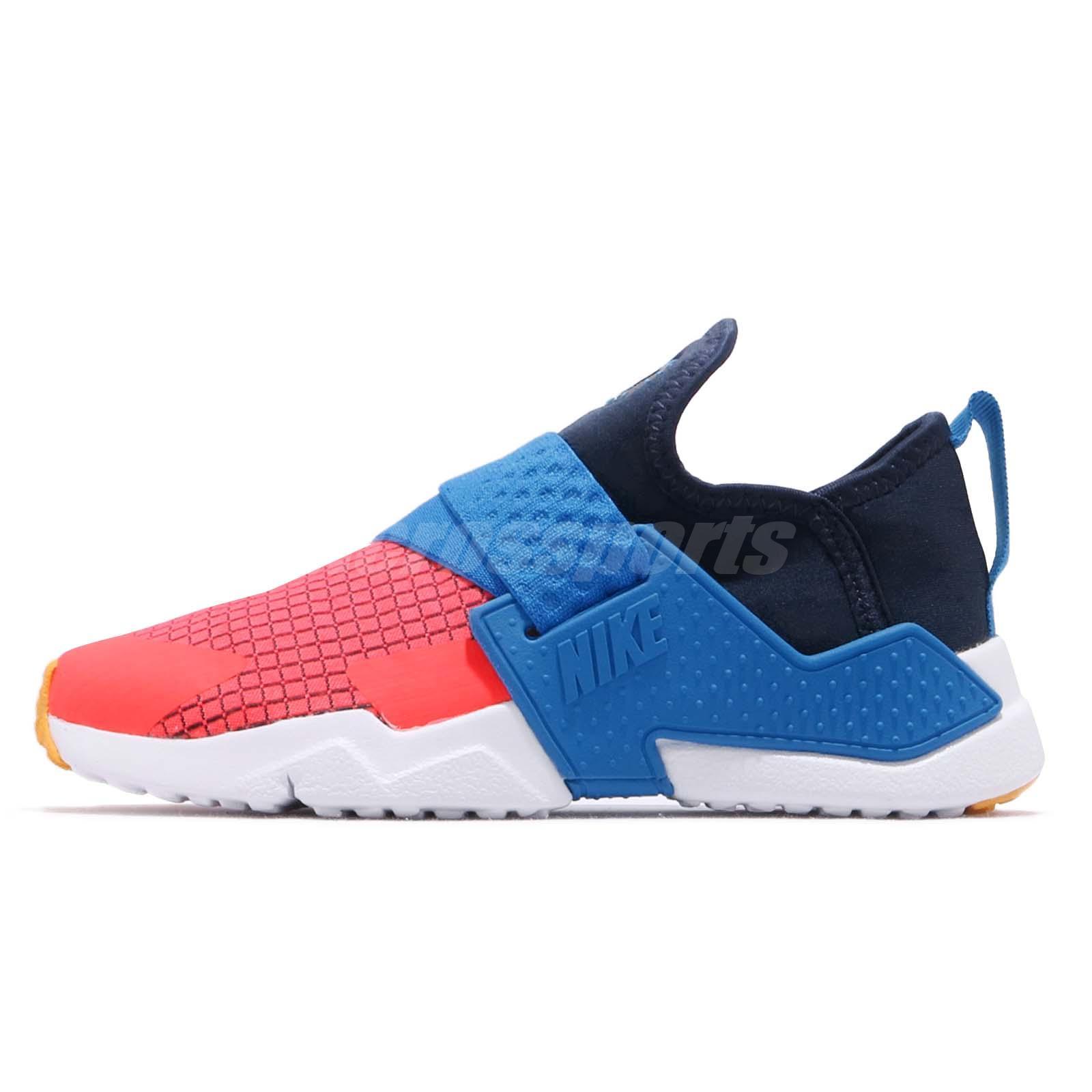 new concept 036a9 a4718 Nike Huarache Extreme Now PS Navy Amarillo Blue Kid Preschool Shoes BQ7569- 400