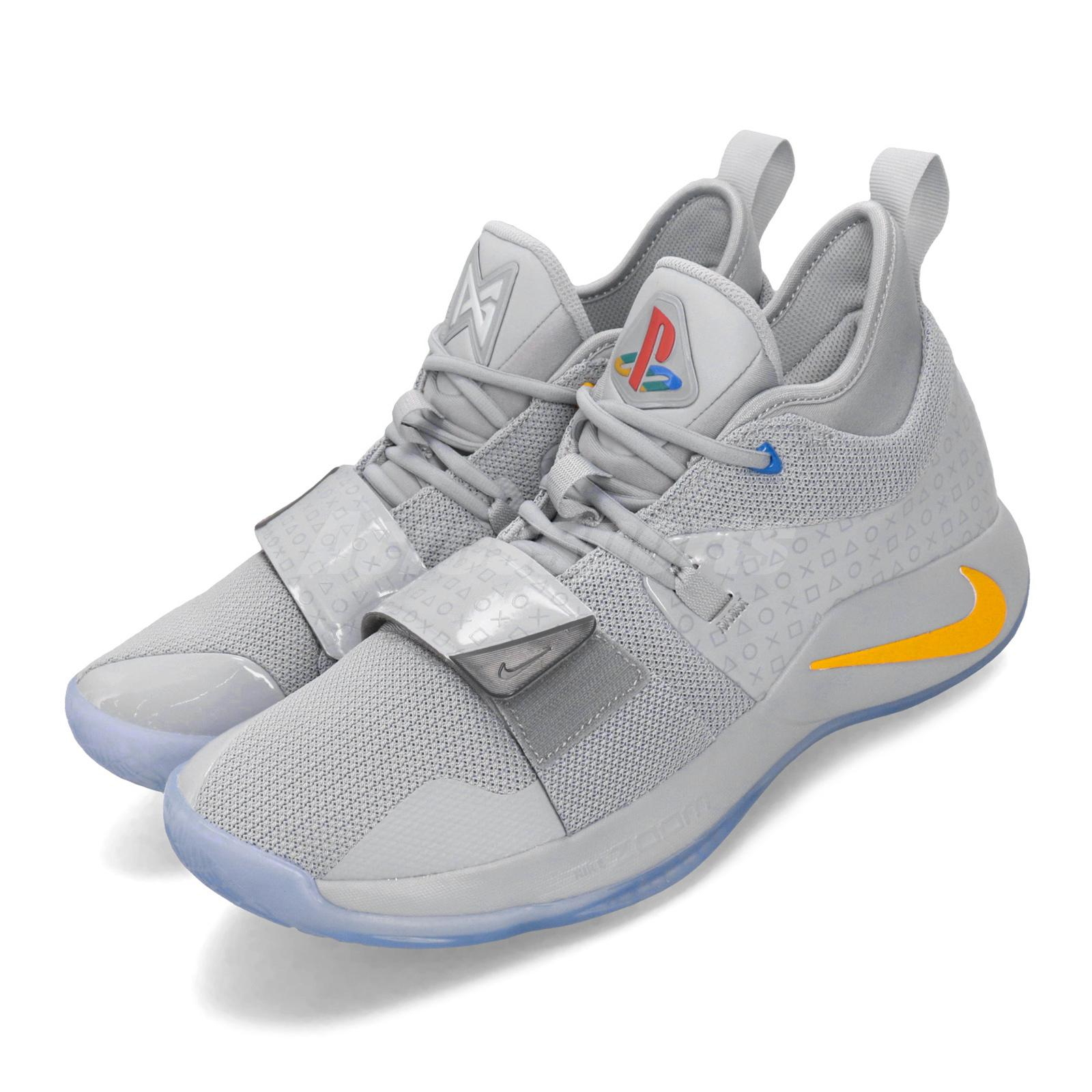 factory authentic e46d3 0a5f8 Details about Nike PG 2.5 Playstation EP PS Paul George Grey Yellow Men  Shoes BQ8391-001
