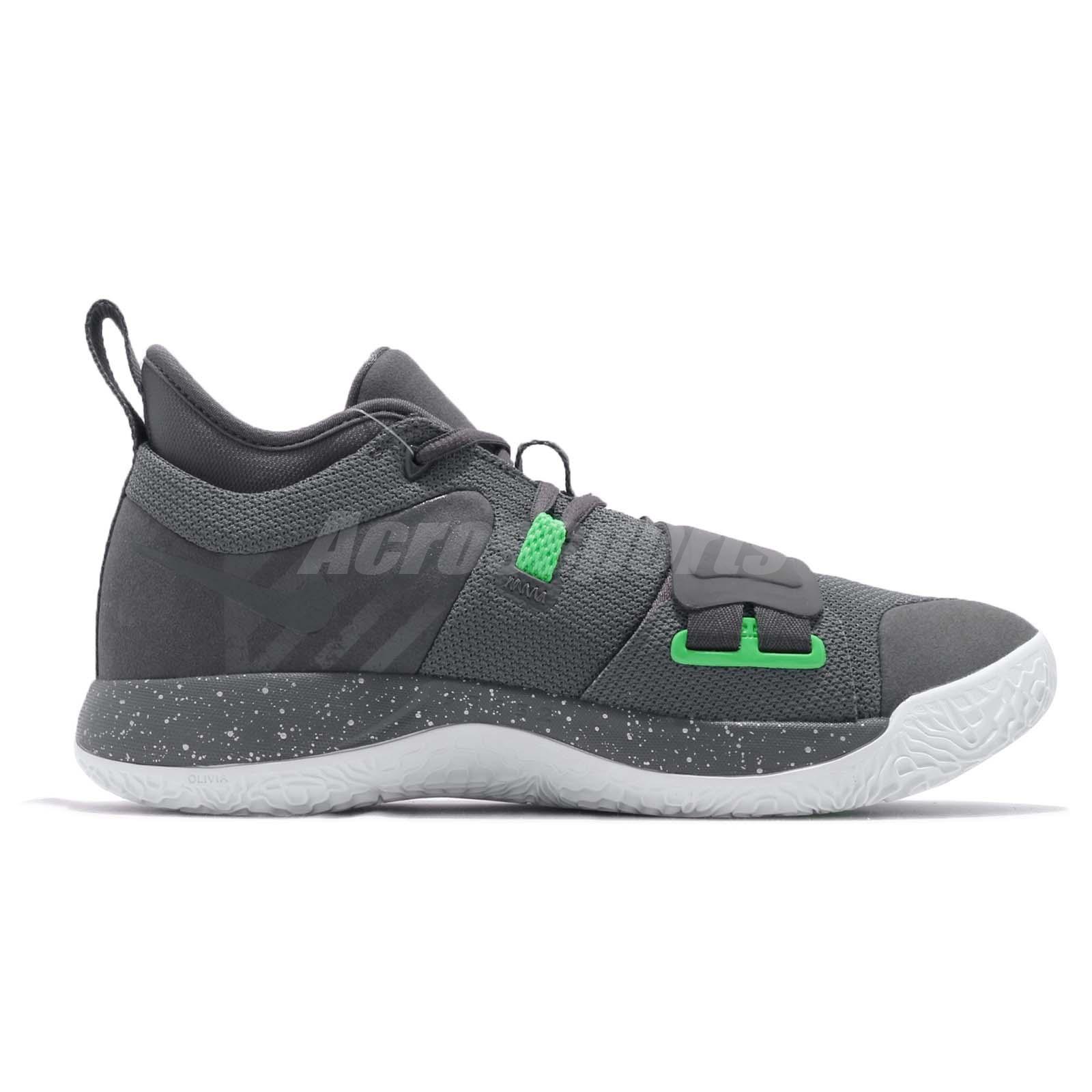 Nike PG 2.5 EP Paul George Grey Green White Men Basketball Shoes ... 1324b8b5e