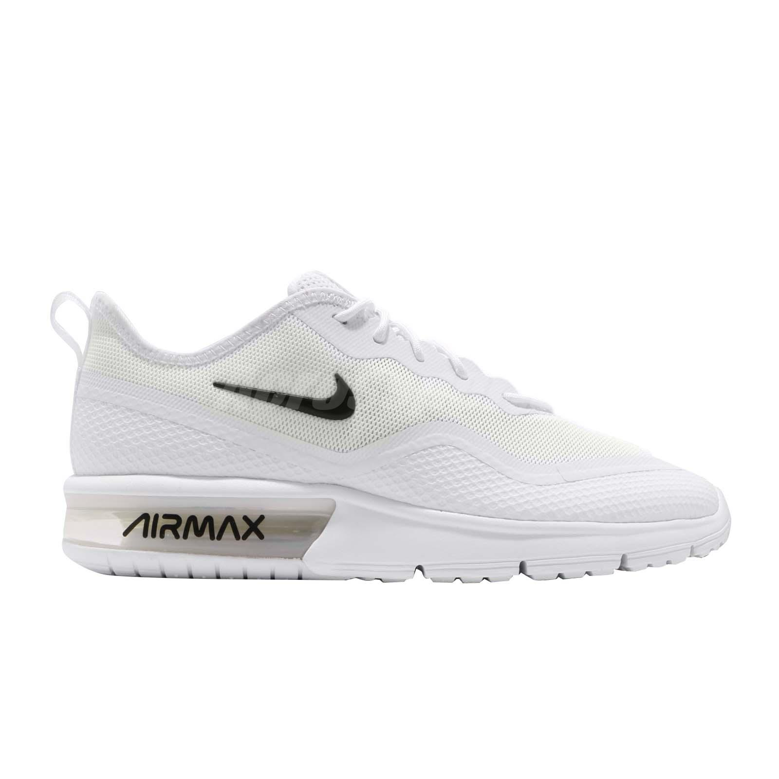 56785820d2 Nike Air Max Sequent 4.5 White Black Men Running Shoes Sneakers ...