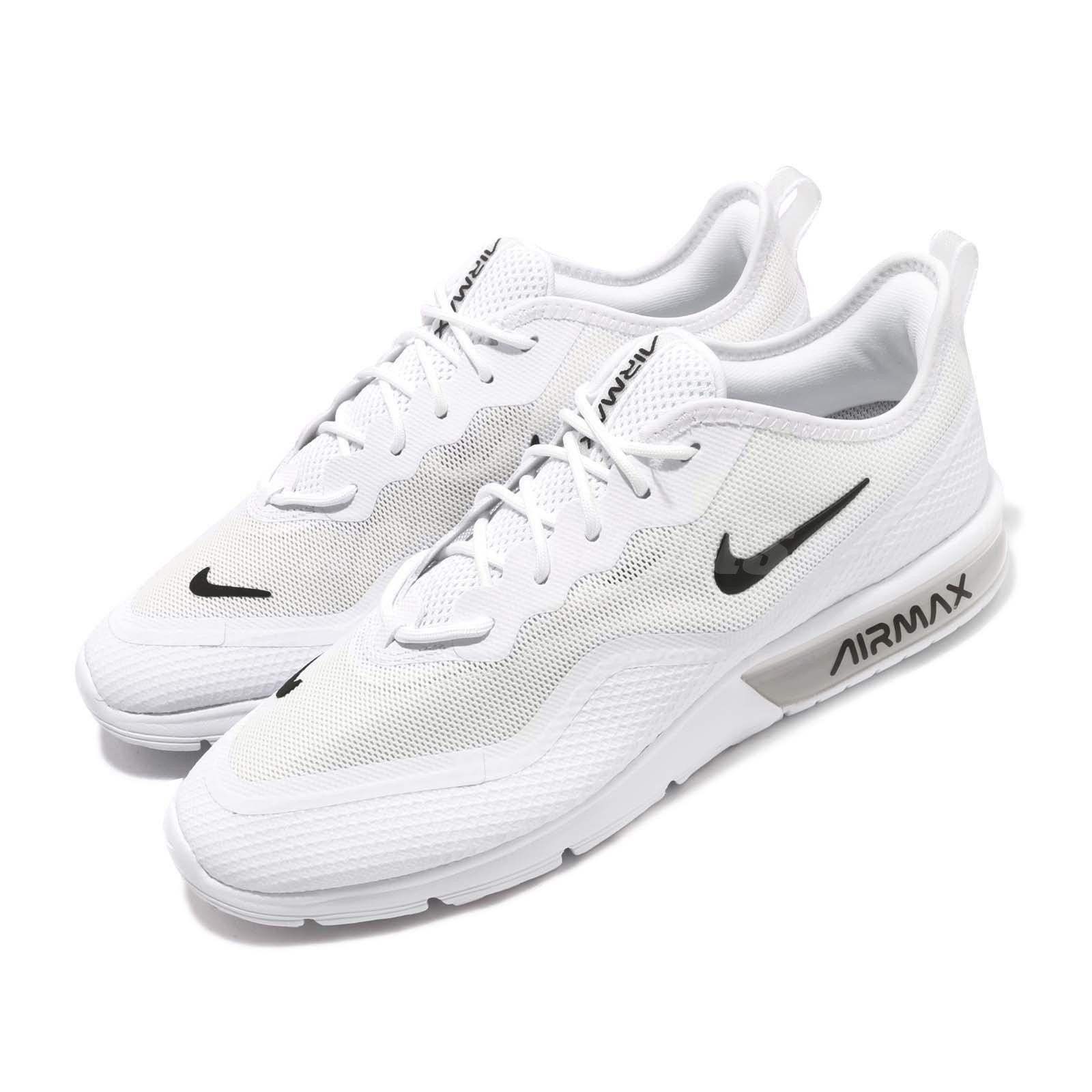 ef98351ddf Details about Nike Air Max Sequent 4.5 White Black Men Running Shoes  Sneakers BQ8822-100