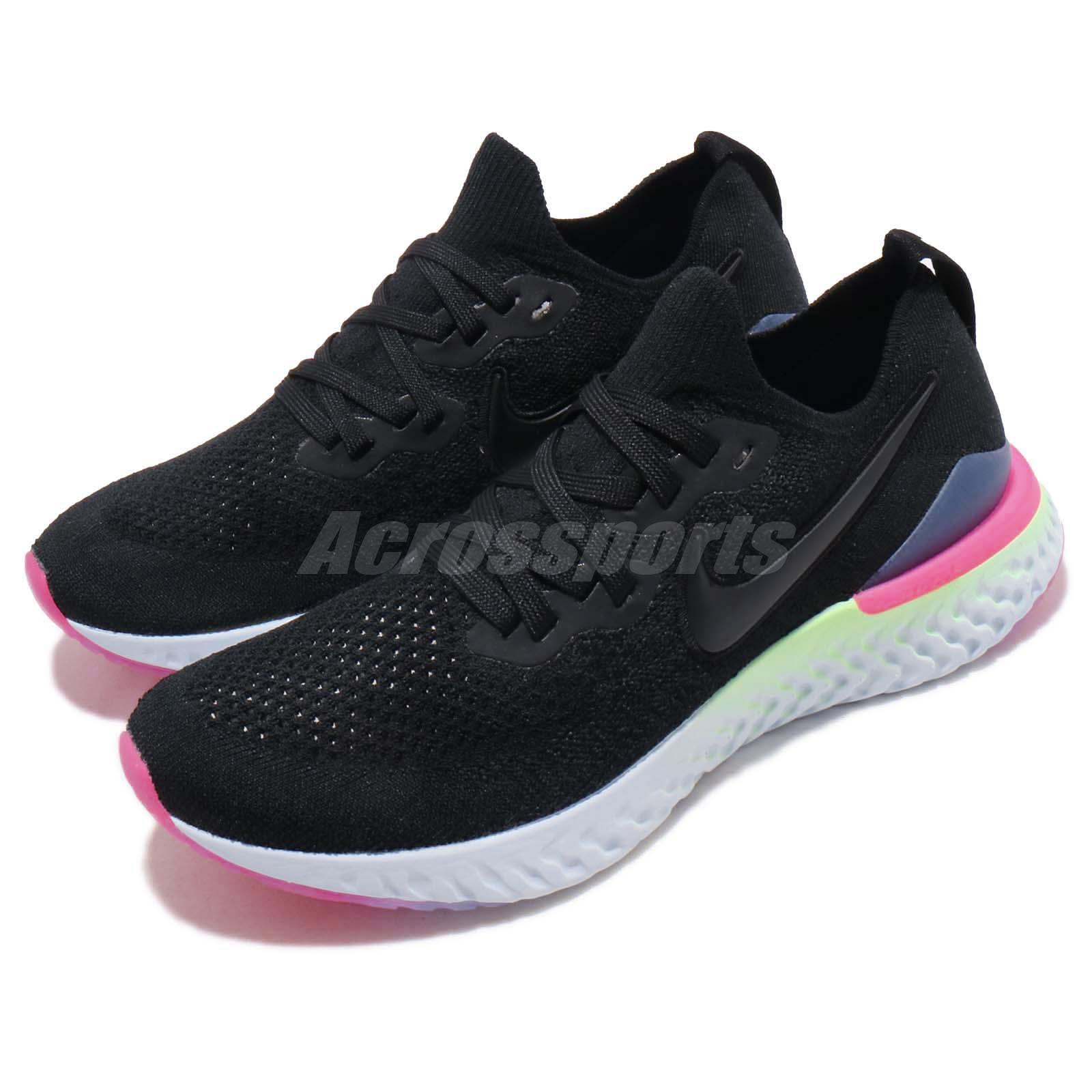 c3fbc7eb808 Details about Nike Wmns Epic React Flyknit 2 II Black Sapphire Women  Running Shoes BQ8927-003