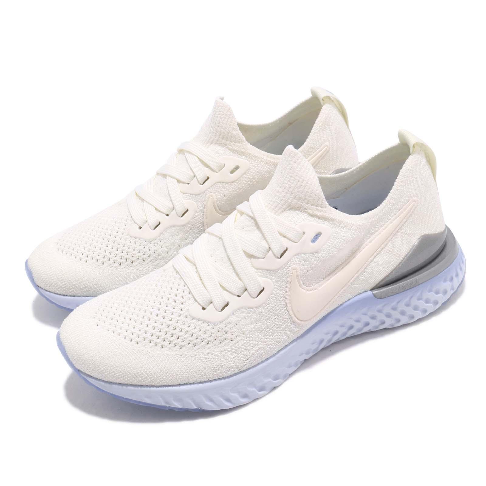 Nike Wmns Epic React Flyknit 2 Sail Silver Women Running Shoe ... 5b2ab0a63