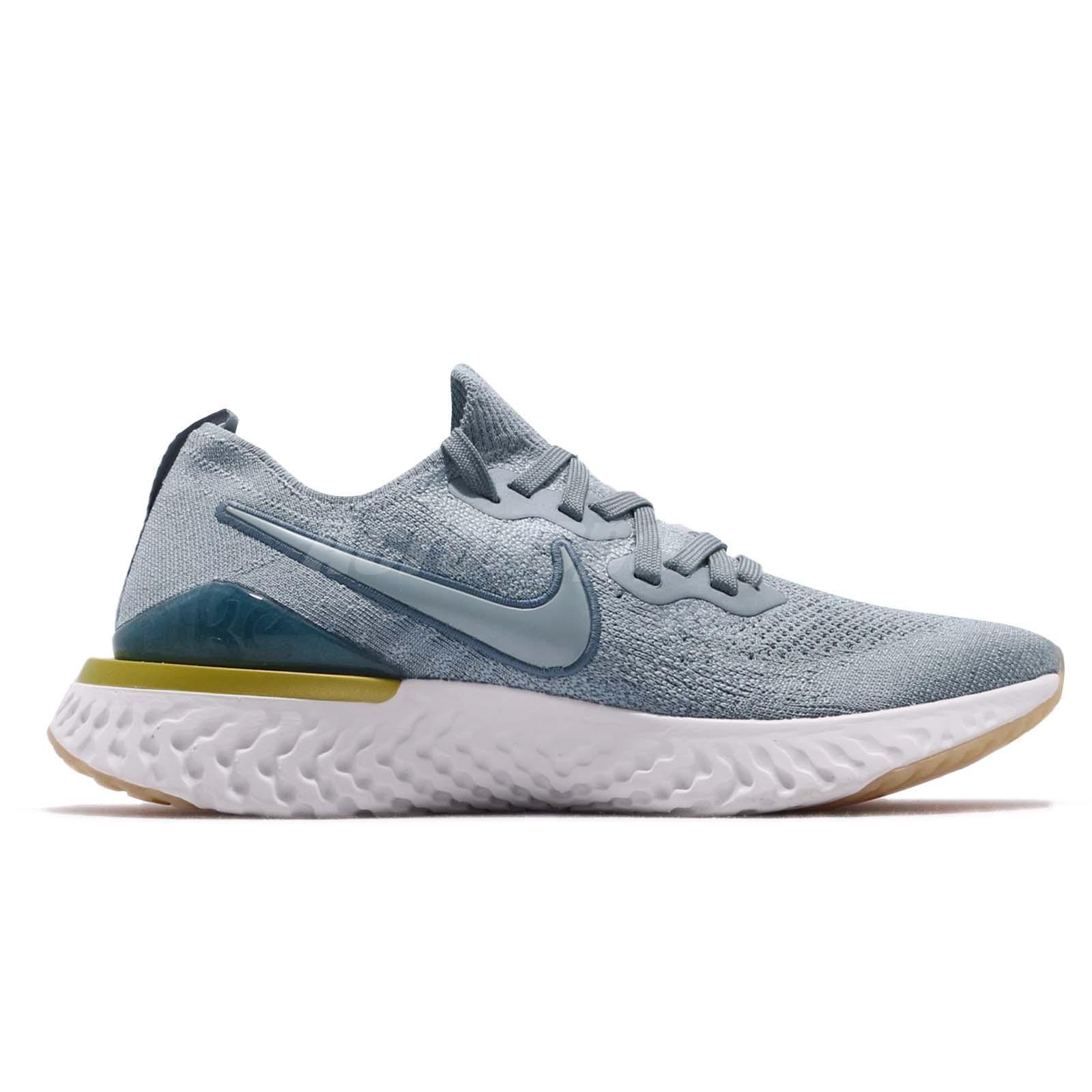 3a7b0cd7a22ba Nike Epic React Flyknit 2 II Aviator Grey Men Running Shoes Sneakers ...