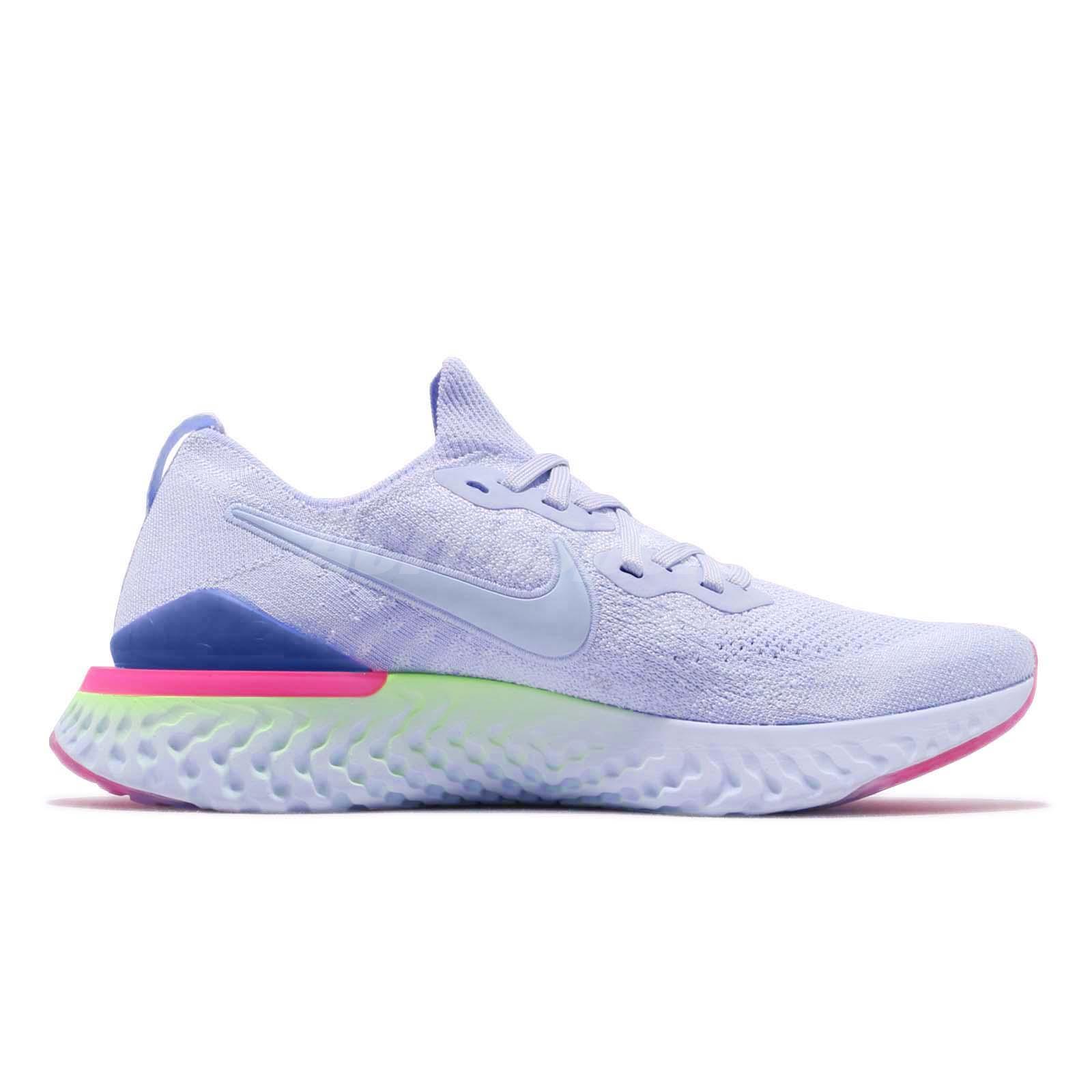 600dd0fad33 Nike Epic React Flyknit 2 II Hydrogen Blue Men Running Shoes ...