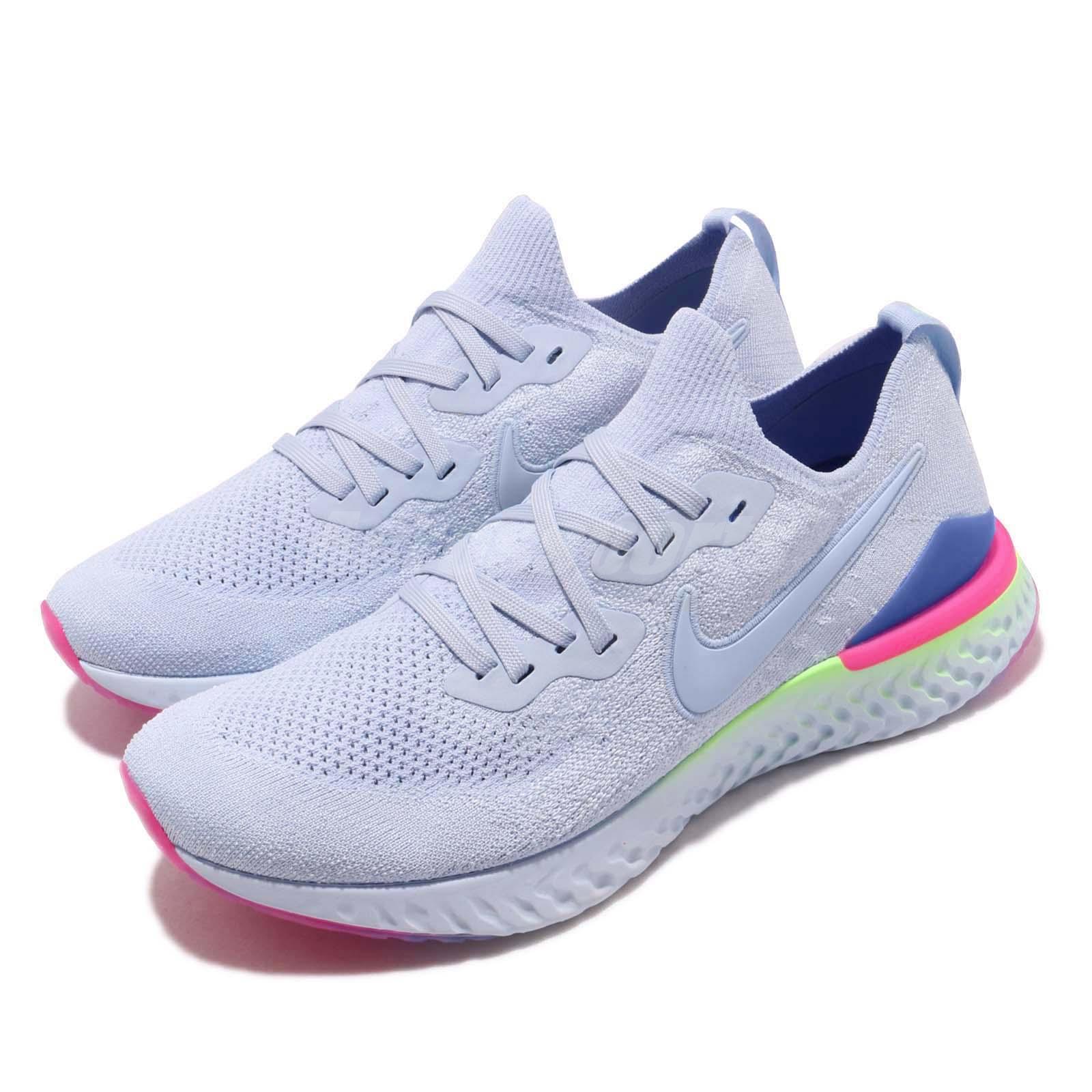 new styles 64677 a98fc Details about Nike Epic React Flyknit 2 II Hydrogen Blue Men Running Shoes  Sneakers BQ8928-453
