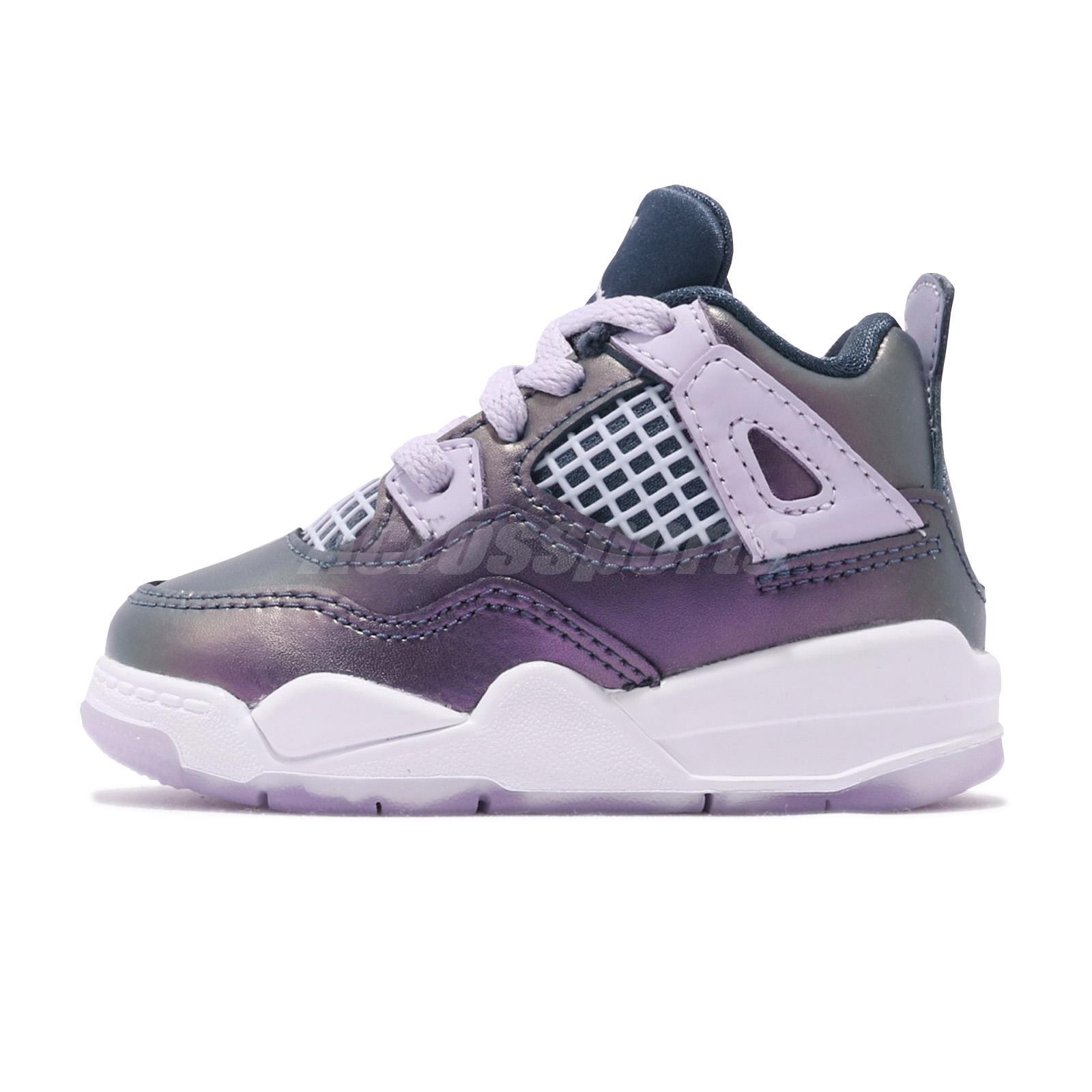 uk availability 6c6ad 0ff68 Nike Jordan 4 Retro TD IV AJ4 Monsoon Blue White Toddler Infant Shoes  BQ9041-400