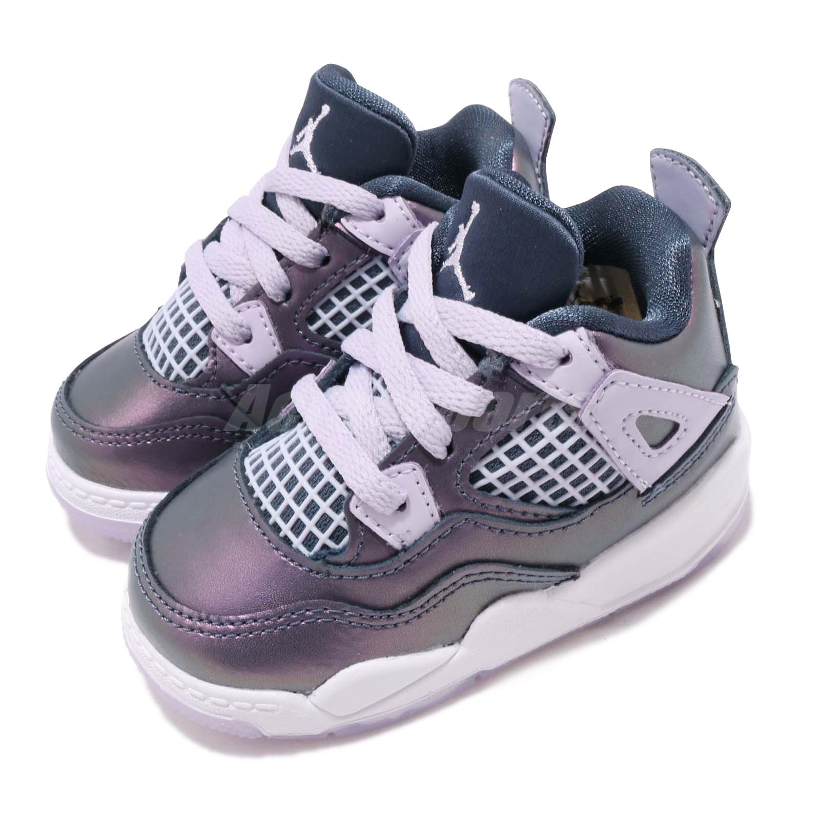sports shoes 5f85e 68e7f Details about Nike Jordan 4 Retro TD IV AJ4 Monsoon Blue White Toddler  Infant Shoes BQ9041-400