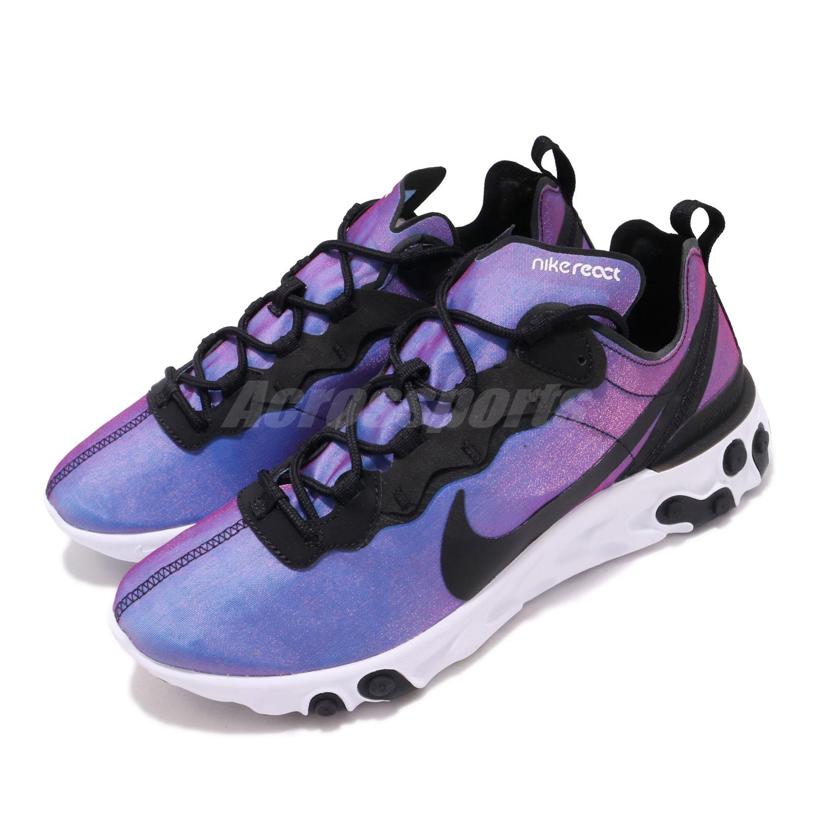 Nike React Element 55 PRM SU19 Black Laser Fuchsia Men Running Shoes BQ9241-002