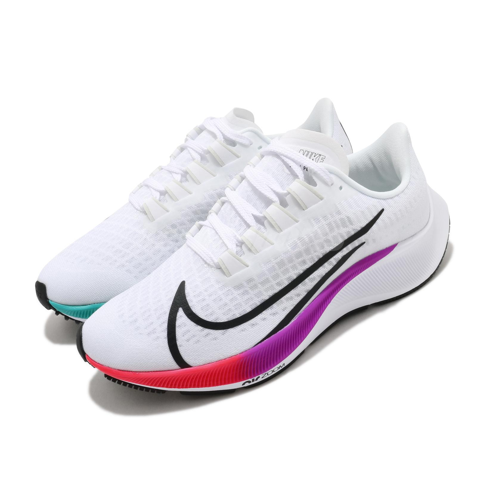 Festival famélico intercambiar  Nike Wmns Air Zoom Pegasus 37 White Flash Crimson Women Running Shoes  BQ9647-103 | eBay