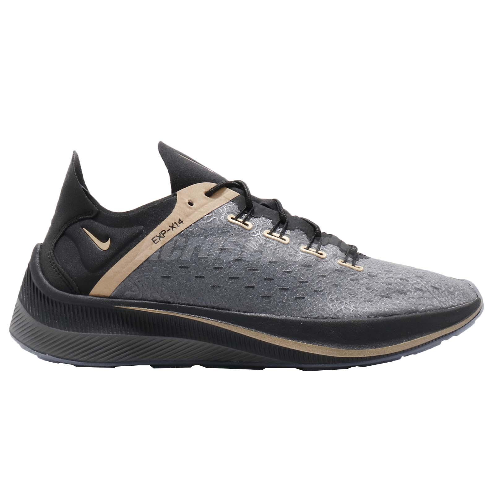 the best attitude c21b6 a2ae0 Nike EXP-X14 CR7 Cristiano Ronaldo Black Gold Men Running Shoes ...