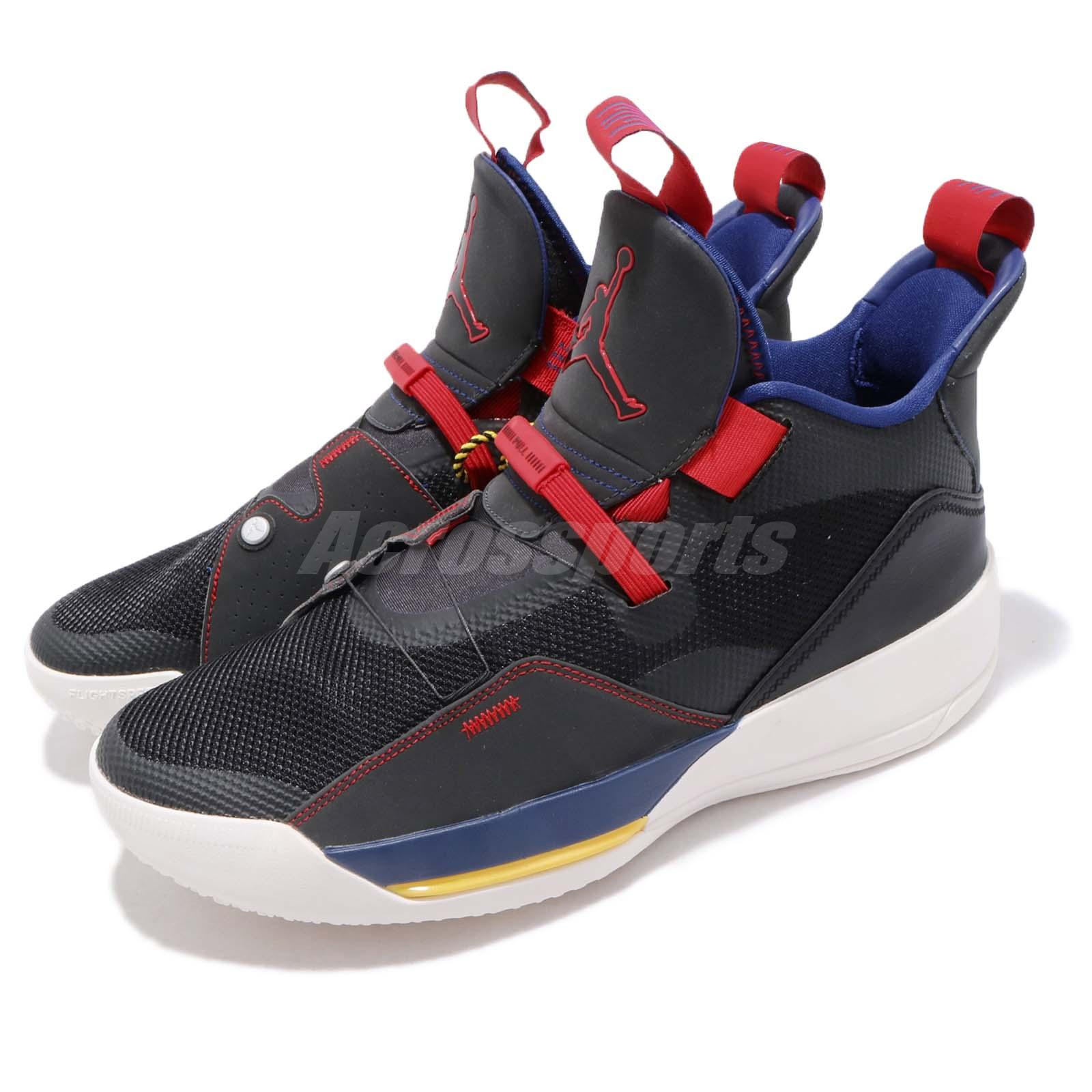 detailed look 6e899 e2e7e Details about Nike Air Jordan 33 Tech Pack XXXIII Black Dark Smoke Grey Sail  AJ33 BV5072-001