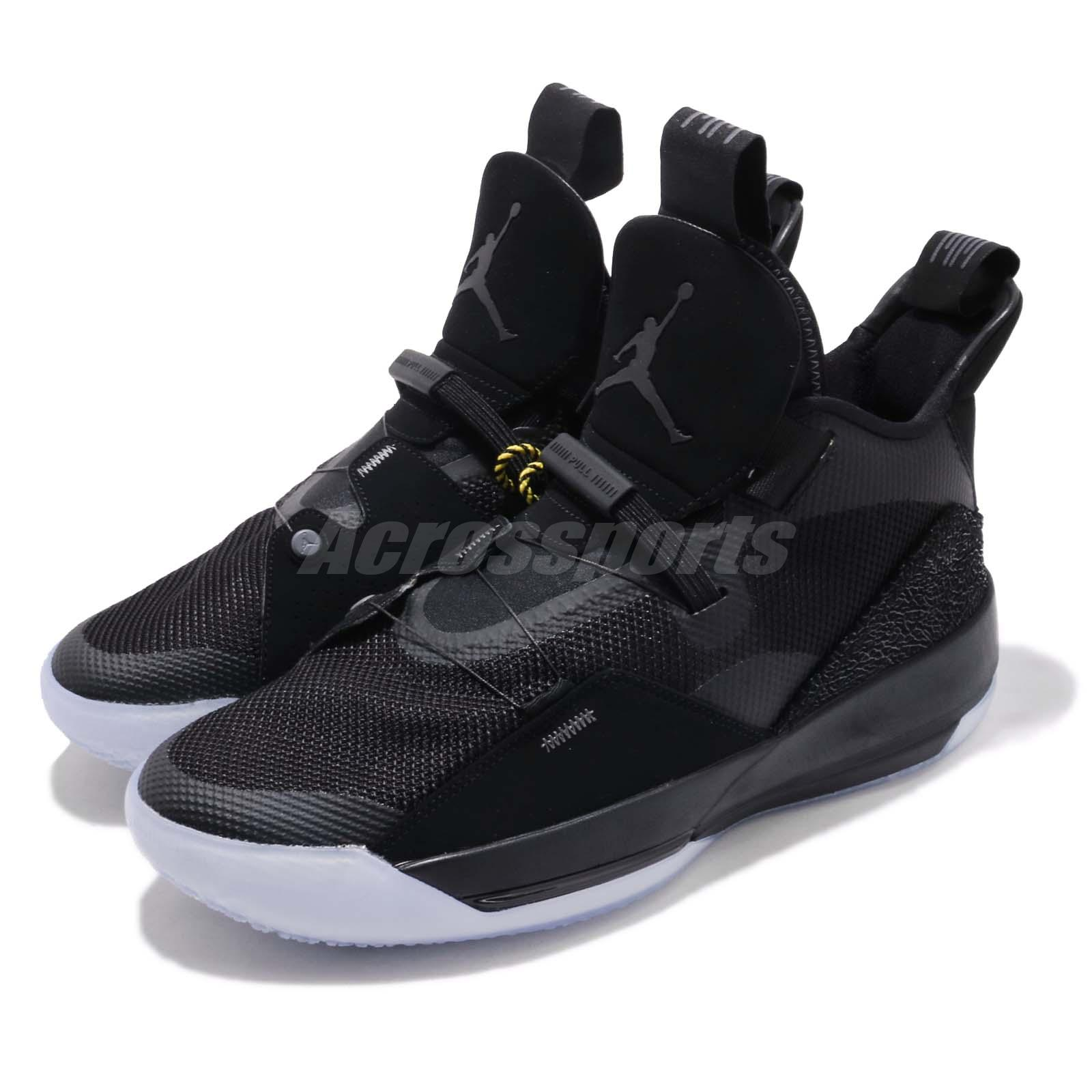 a0a880c5eef Details about Nike Air Jordan XXXIII PF 33 Blackout Fastfit Mens Basketball  Shoes BV5072-002