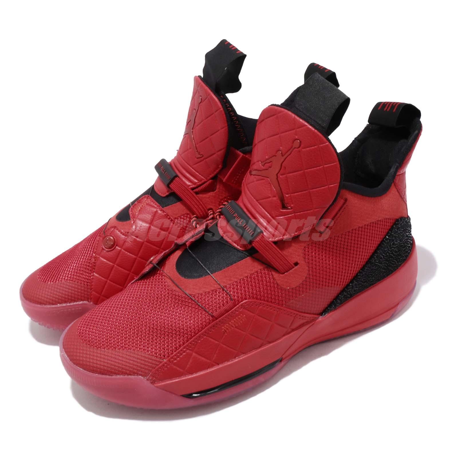 Details about Nike Air Jordan XXXIII PF 33 University Red Black Men Basketball Shoe BV5072 600