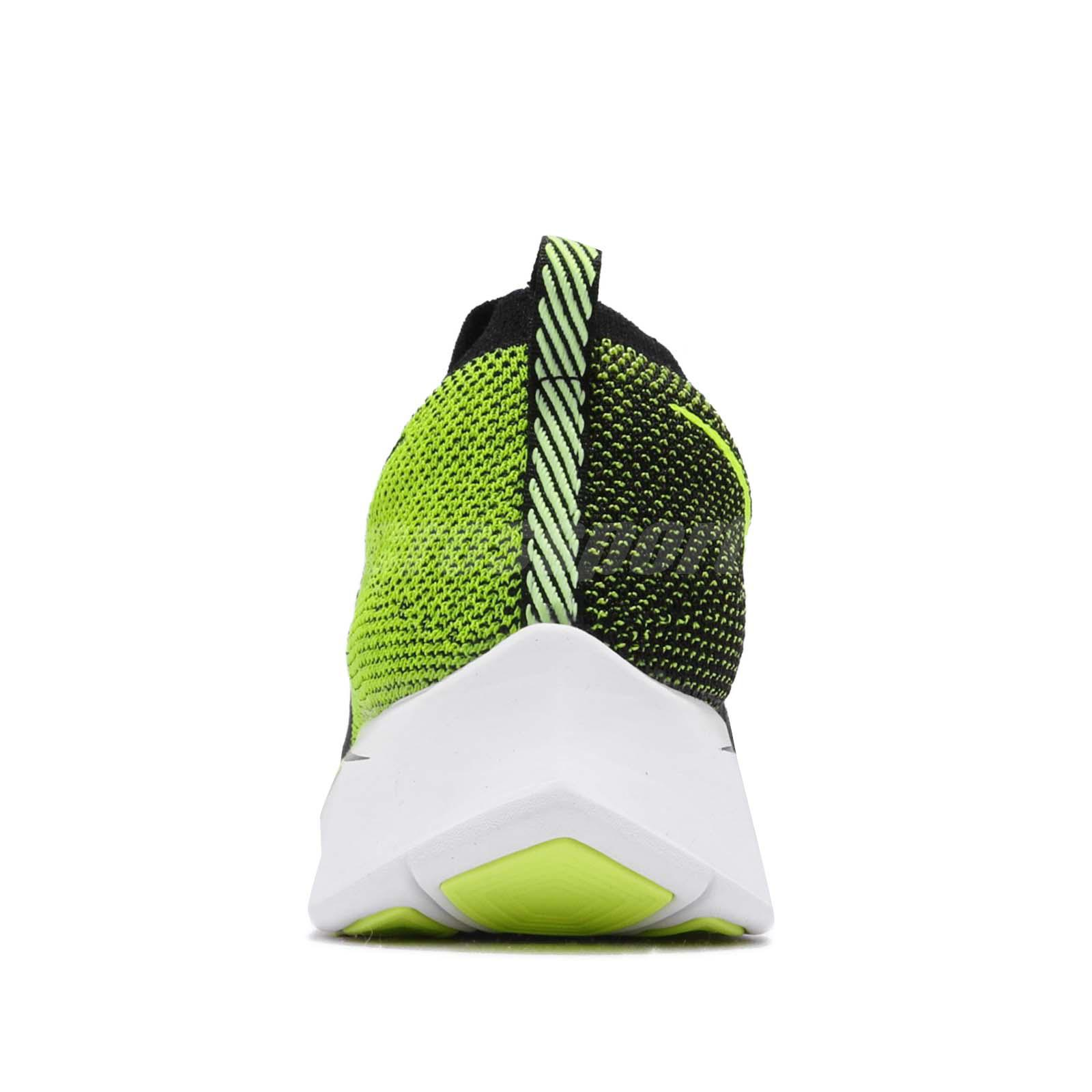 ef11c25f8a7 Nike Zoom Fly Flyknit Black Volt White Men Running Shoes Sneakers ...