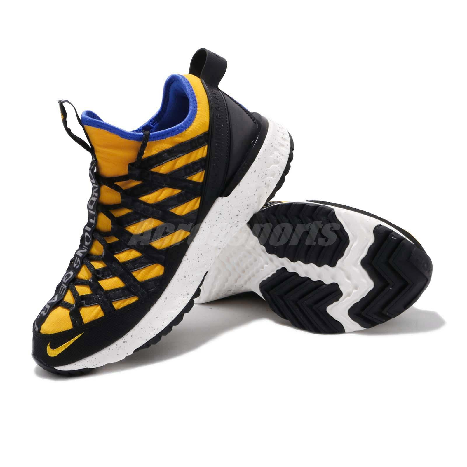 los angeles 6edc8 d66e9 Nike ACG React Terra Gobe Amarillo Yellow Black Mens Outdoors Shoes ...