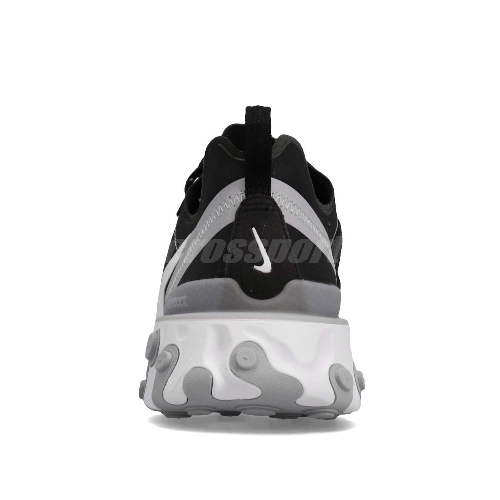 e2c8e92f29315 Nike React Element 55 Black White Grey Men Running Shoes Sneakers ...