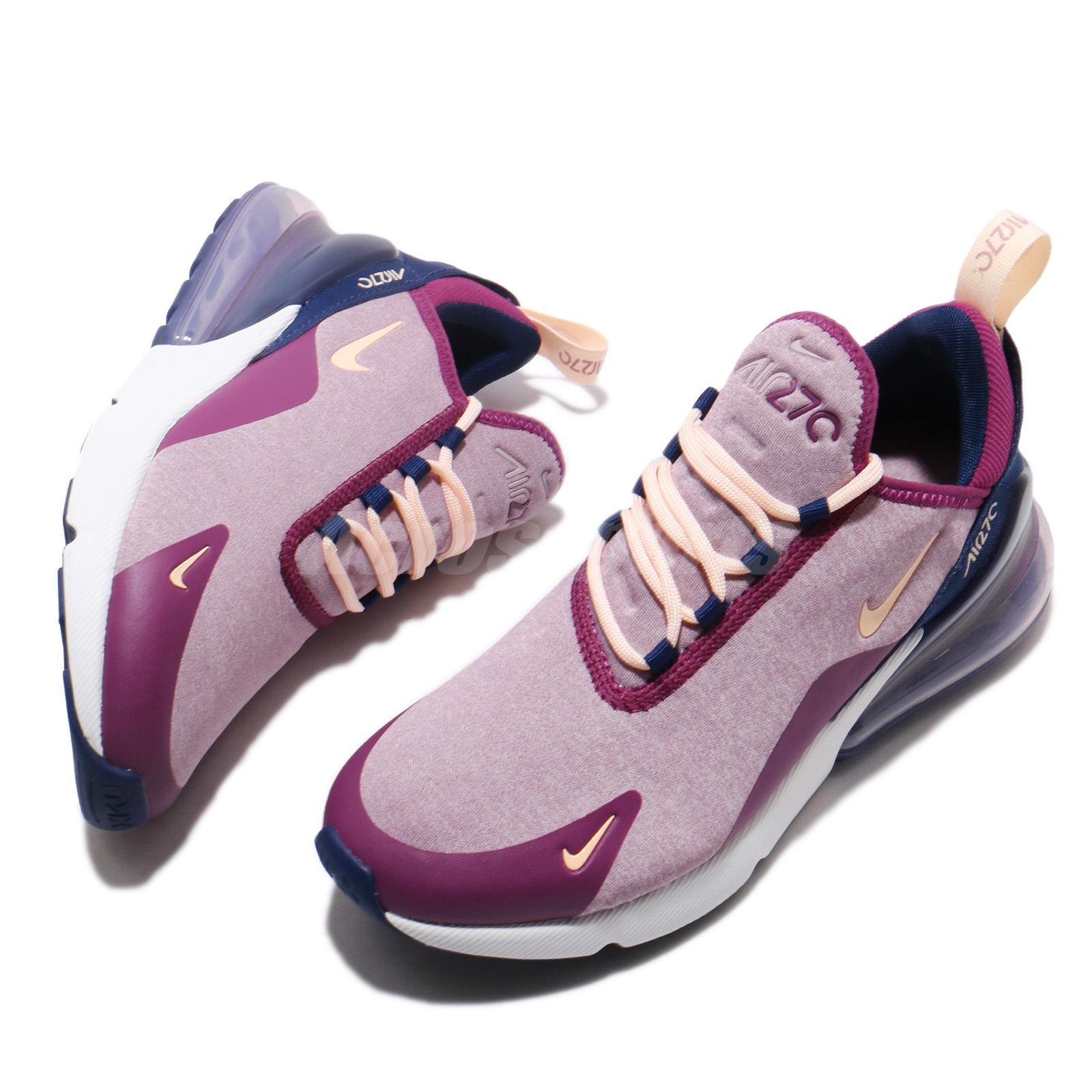 26bfd686bfe19 Nike Wmns Air Max 270 SE Plum Chalk Crimson Tint Women Running Shoes ...