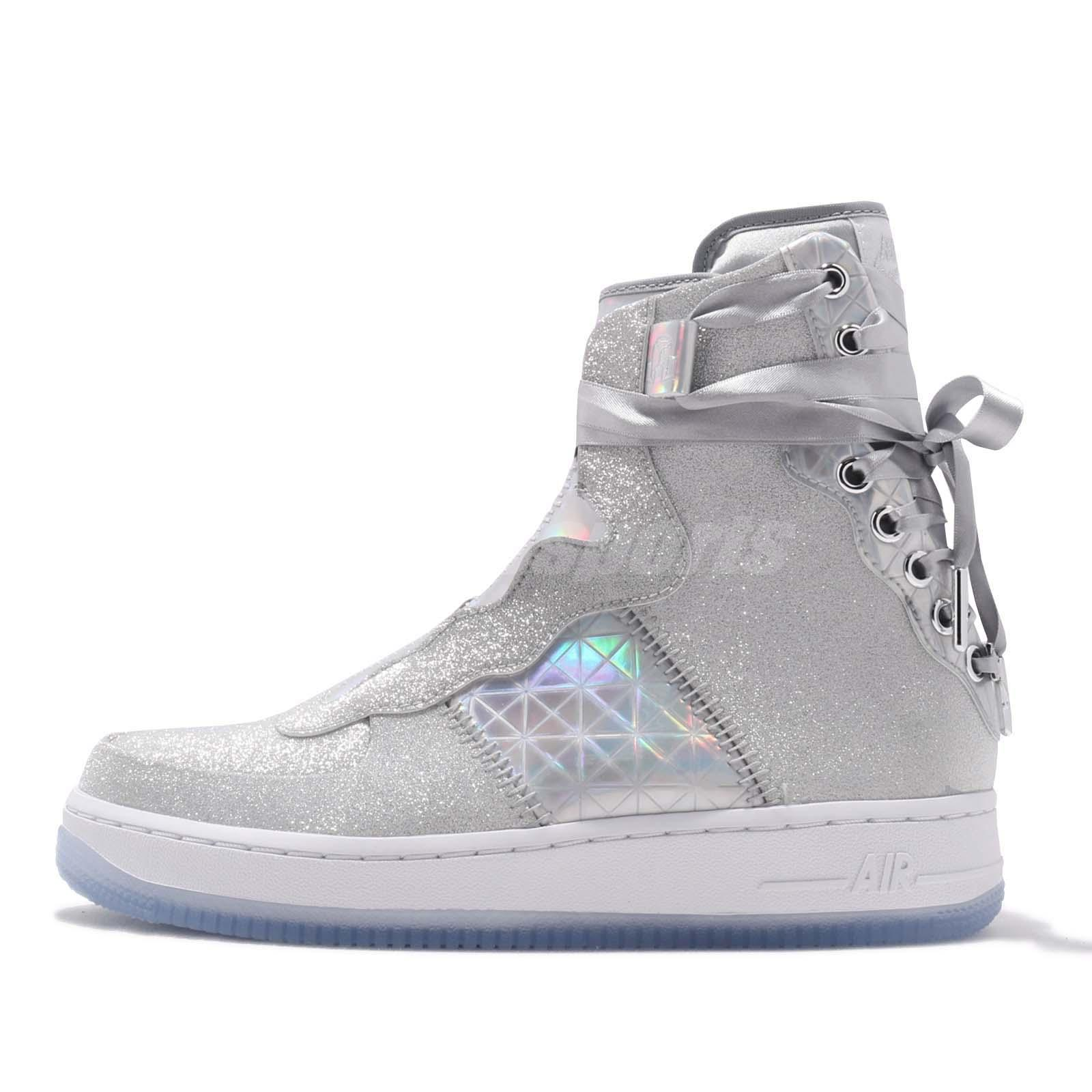 27a4f3d33bde Nike Wmns AF1 REBEL XX Air Force 1 Silver Women Casual Shoes Sneakers  BV7344-090