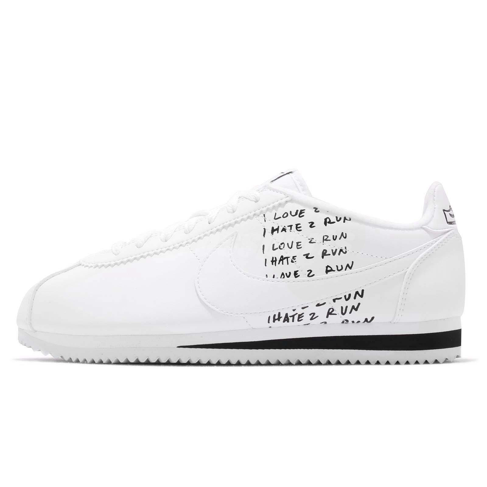 the best attitude 42f8d 5da4f Details about Nike Classic Cortez X Nathan Bell White Black Mens Retro  Running Shoe BV8165-100