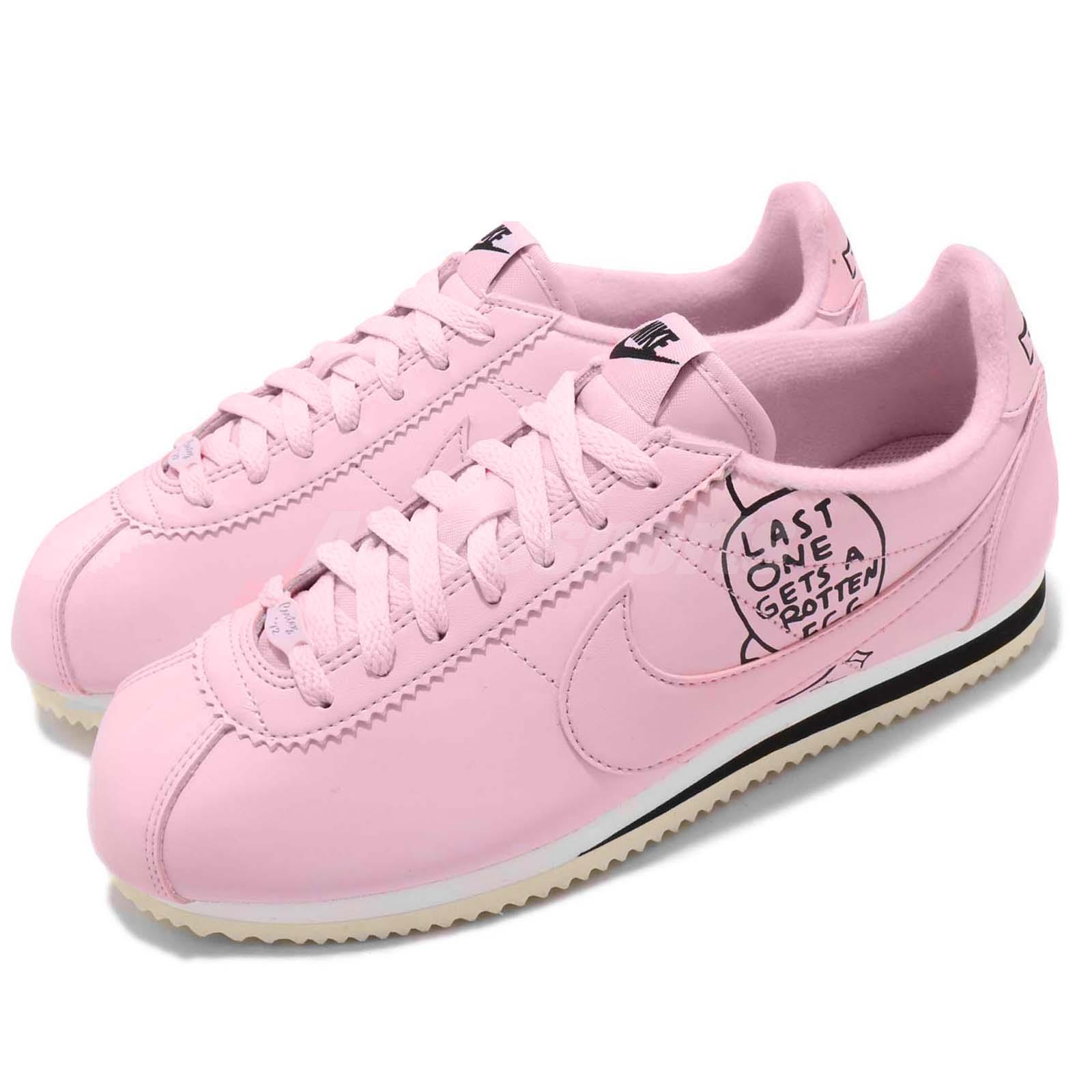 the best attitude 82921 dbc91 Details about Nike Classic Cortez X Nathan Bell Pink Foam Black Mens  Running Shoes BV8165-600