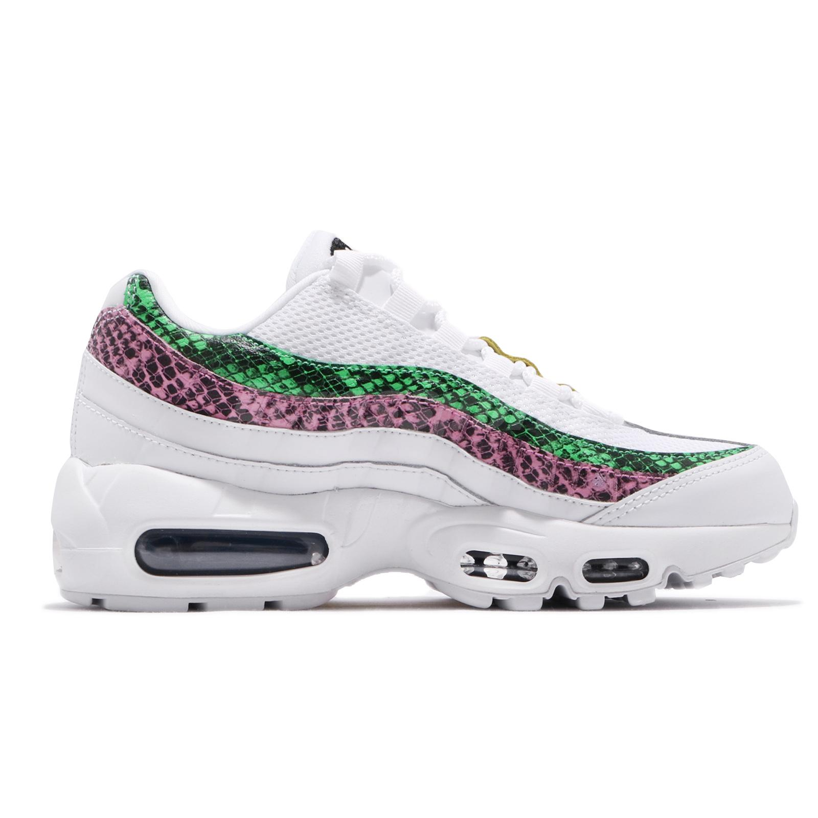 Nike Air Max 95 PRM GS Nike Wmns Air Max 95 PRM Animal Snake White Red Pink Green Women ...