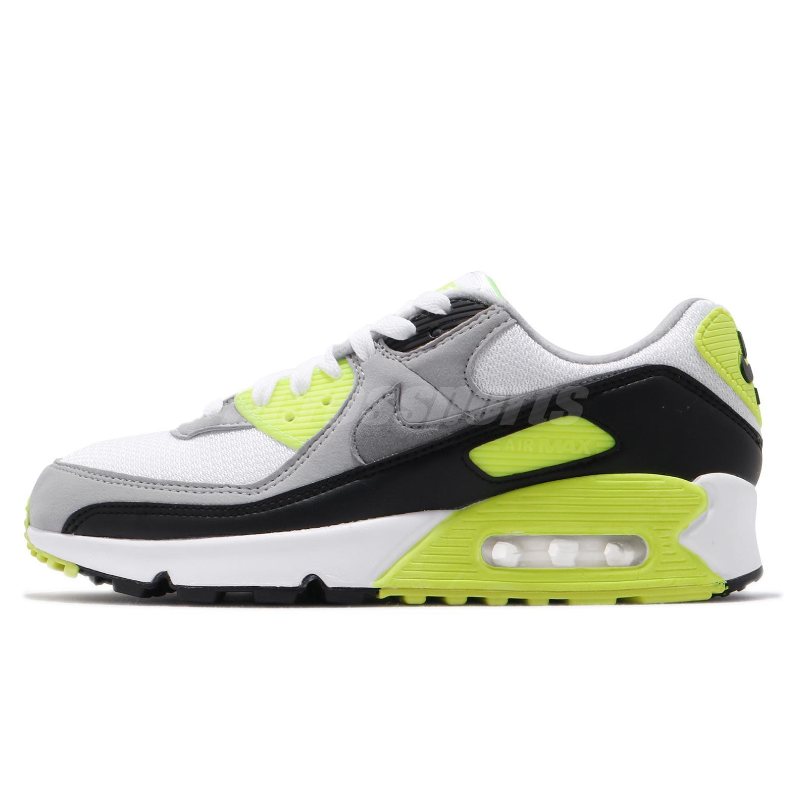Nike Air Max 90 Og 2020 Volt White Grey Black Men Casual Shoe Sneaker Cd0881 103 Ebay