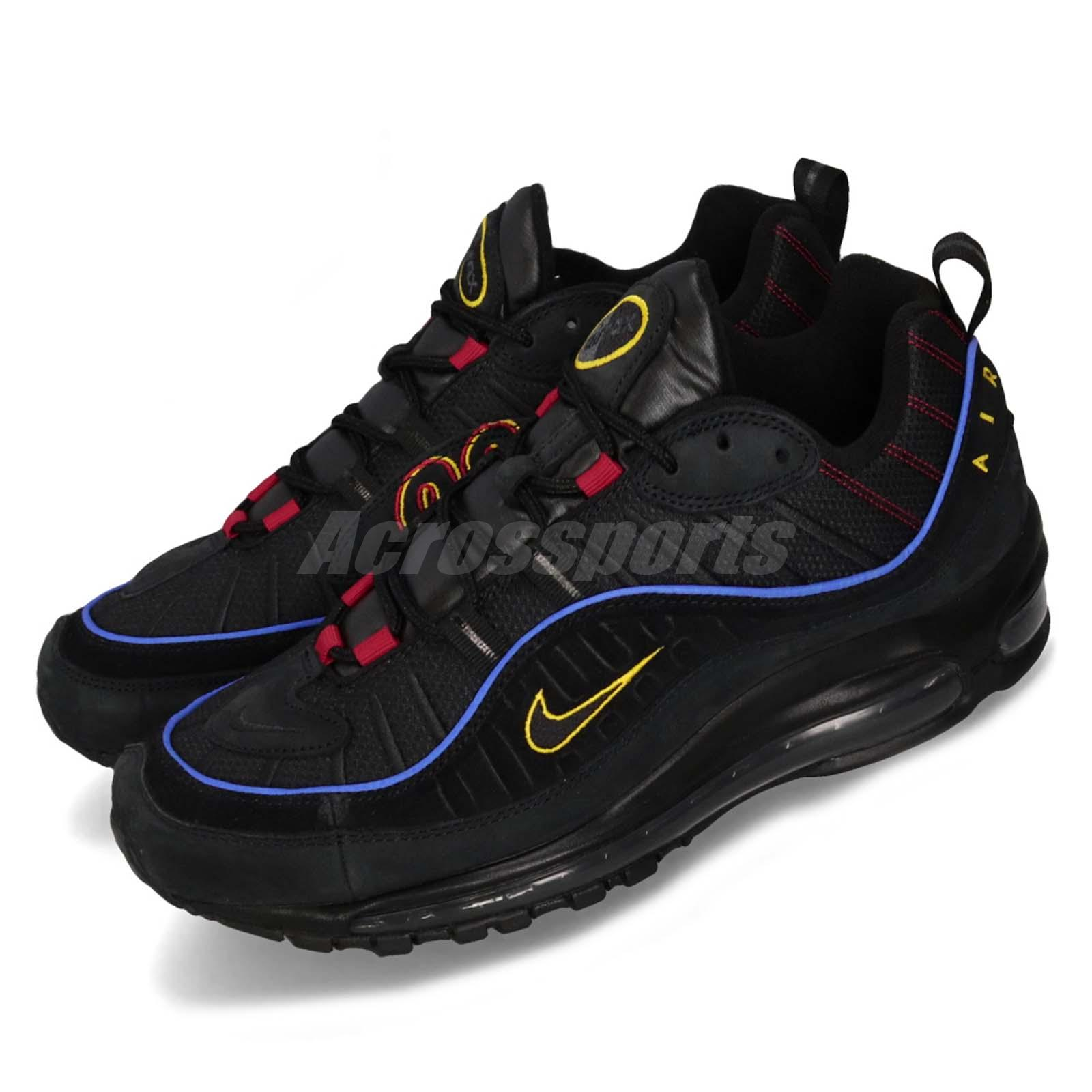 Details about Nike Air Max 98 Present Black Red Yellow Men Running scarpa Sneakers CD1537 001