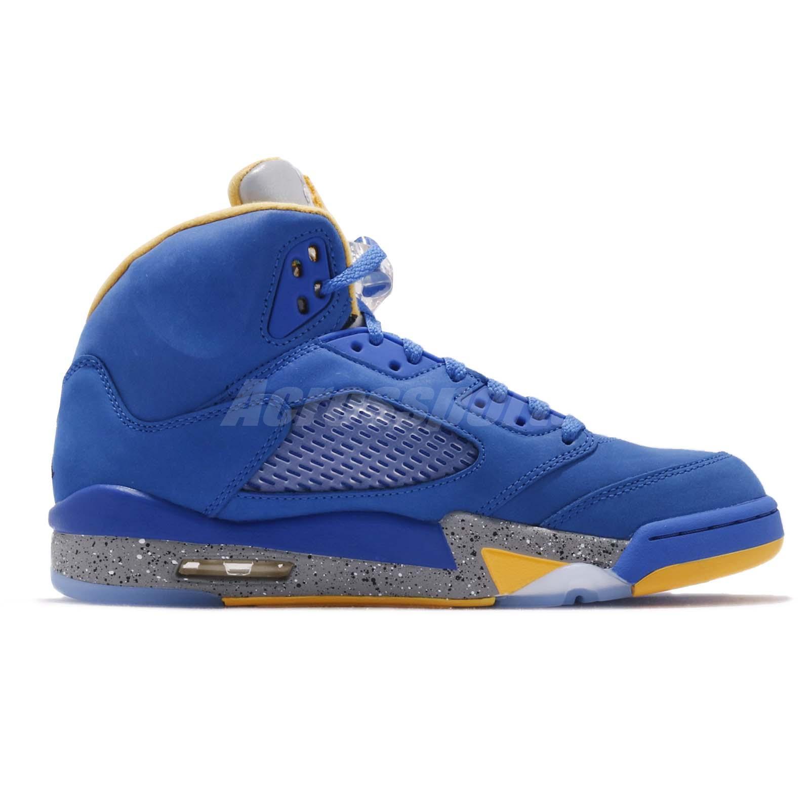 cfc82fe7a27bf0 Nike Air Jordan 5 Laney JSP V Varsity Royal Maize Blue Yellow CD2720 ...
