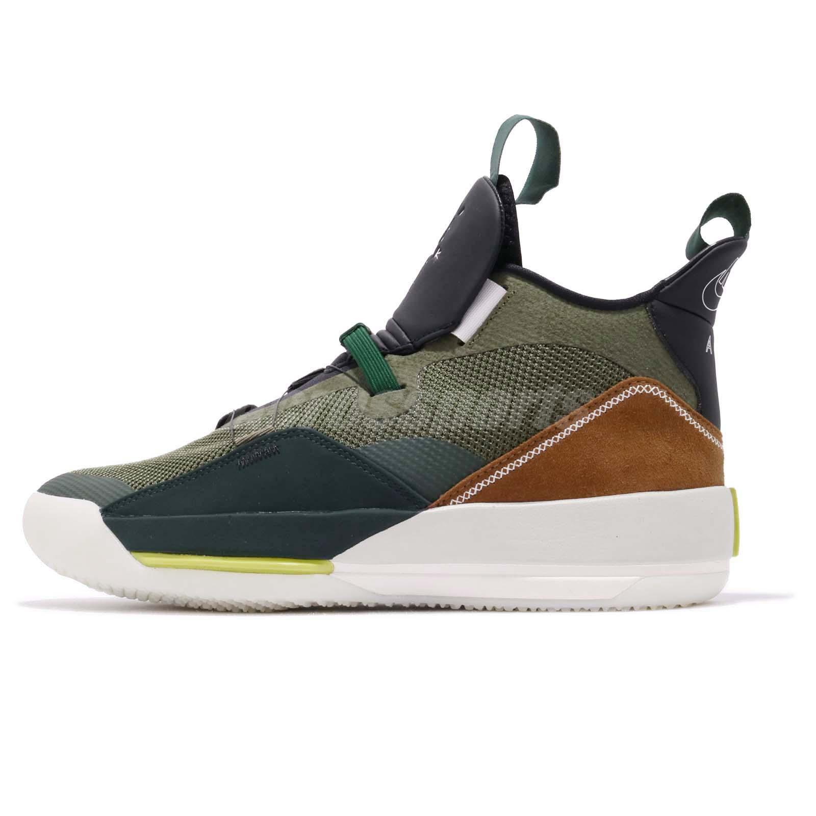 f154fd90b34468 Nike Air Jordan XXXIII NRG 33 Travis Scott Army Olive Men Shoes CD5965-300