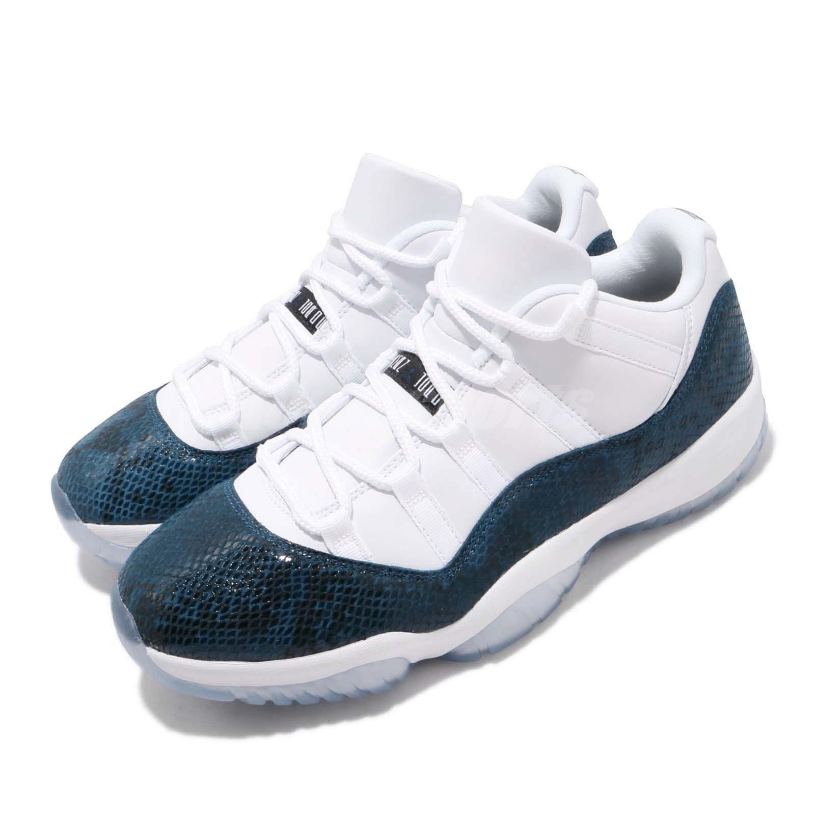 cd47251194fc Nike Air Jordan 11 Retro Low XI AJ11 Blue Navy Snakeskin Men Shoes ...