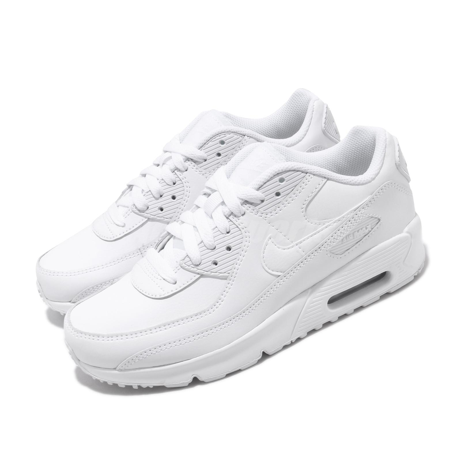 CD6864-100 Youth Nike Air Max 90 Leather White
