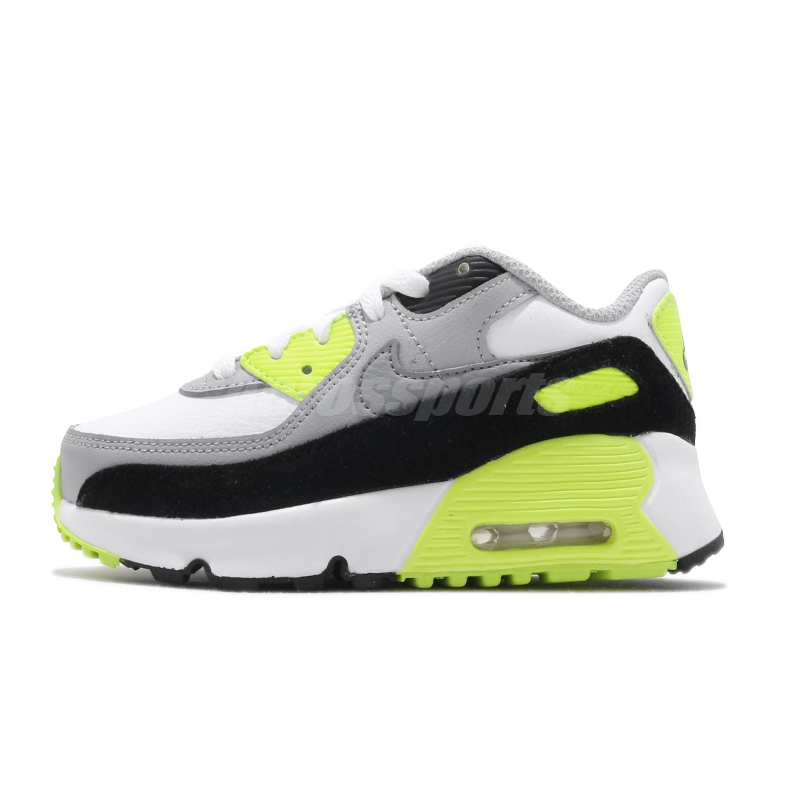 833416-001 Nike Air Max 90 Toddler Baby Black Casual Shoes TD