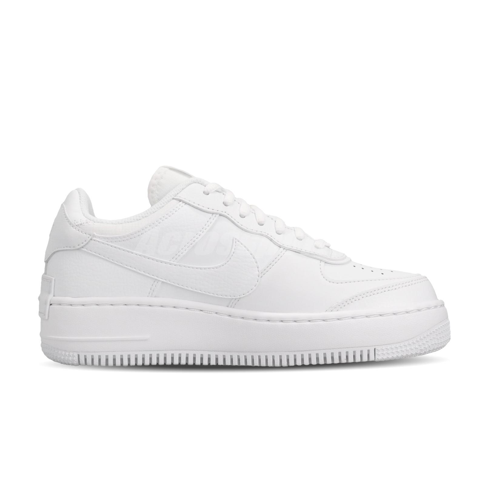 white platform nike air force