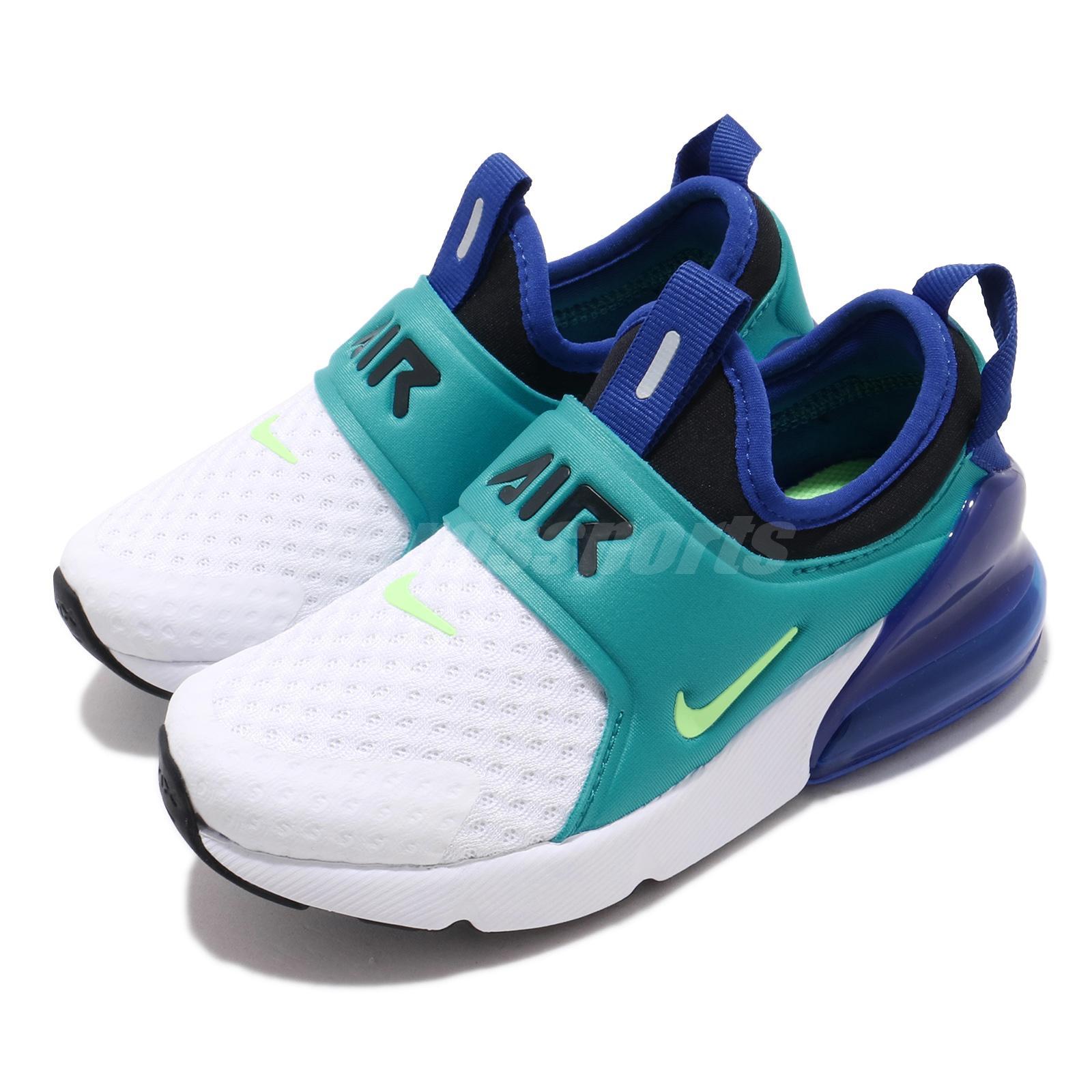 Nike Air Max 270 Extreme Ps White Green Aqua Blue Kid Preschool Shoes Ci1107 101 Ebay
