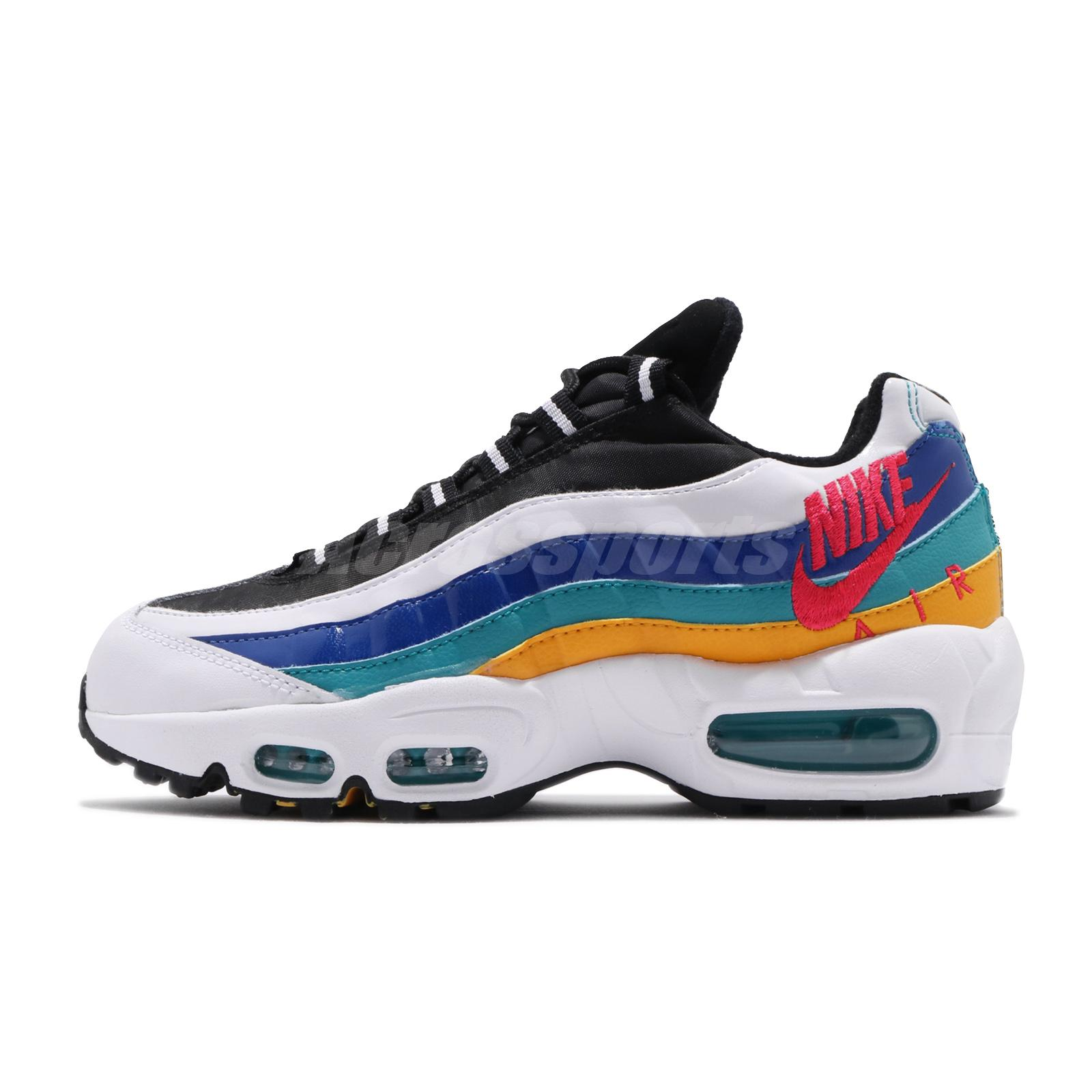 Details about Nike Air Max 95 Premium Windbreaker White Red Gold Women Running Shoe CI1900 123