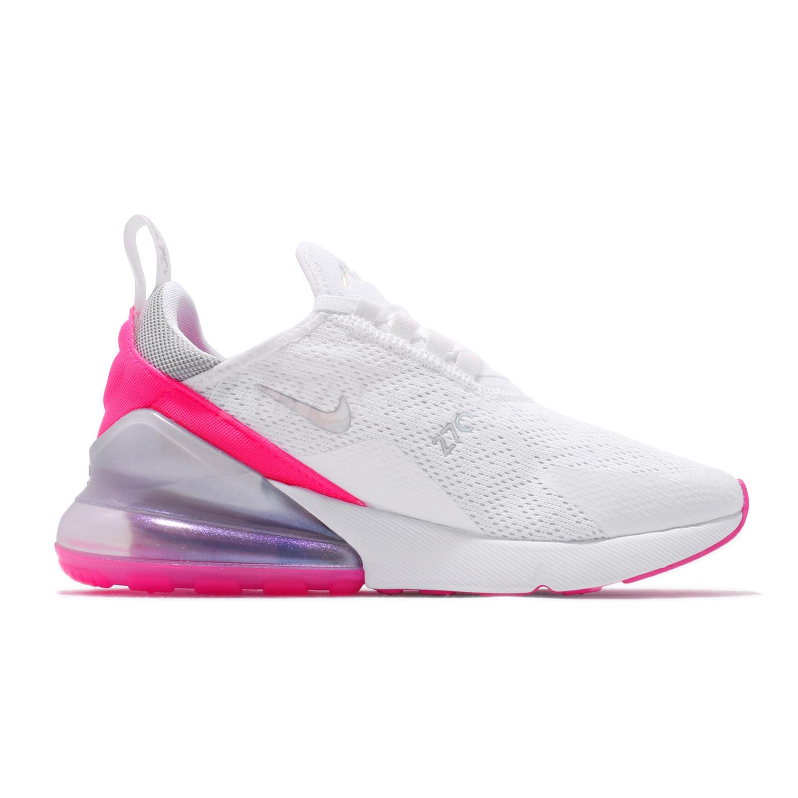 Nike Air Max 270 WMNS White Pink Silver Running Shoes CI1963 191 Sale