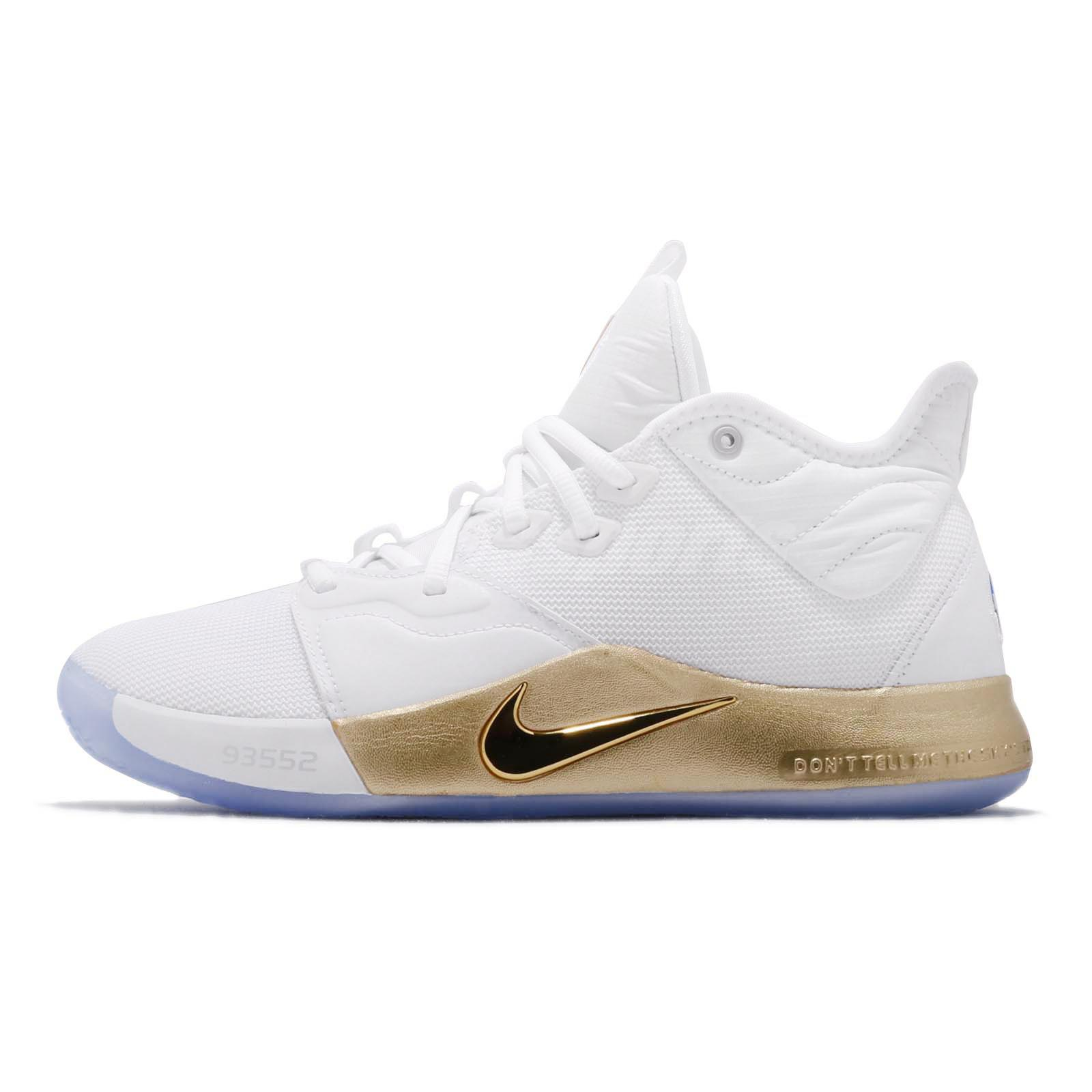 a43147654c1 Nike PG 3 NASA EP Apollo Missions White Gold Paul George Mens Shoes  CI2667-100