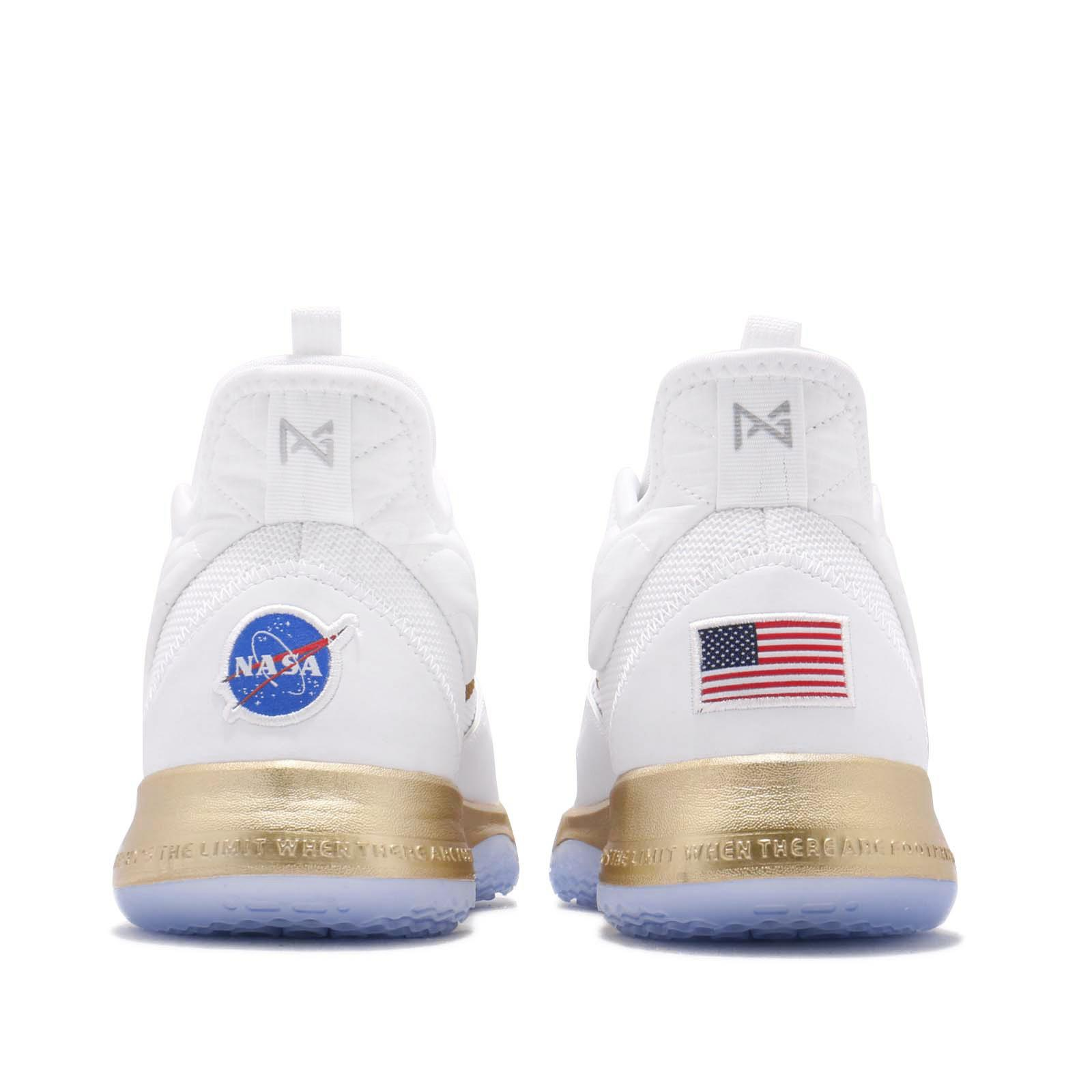 90f4ac7d466 Nike PG 3 NASA EP Apollo Missions White Gold Paul George Mens Shoes ...