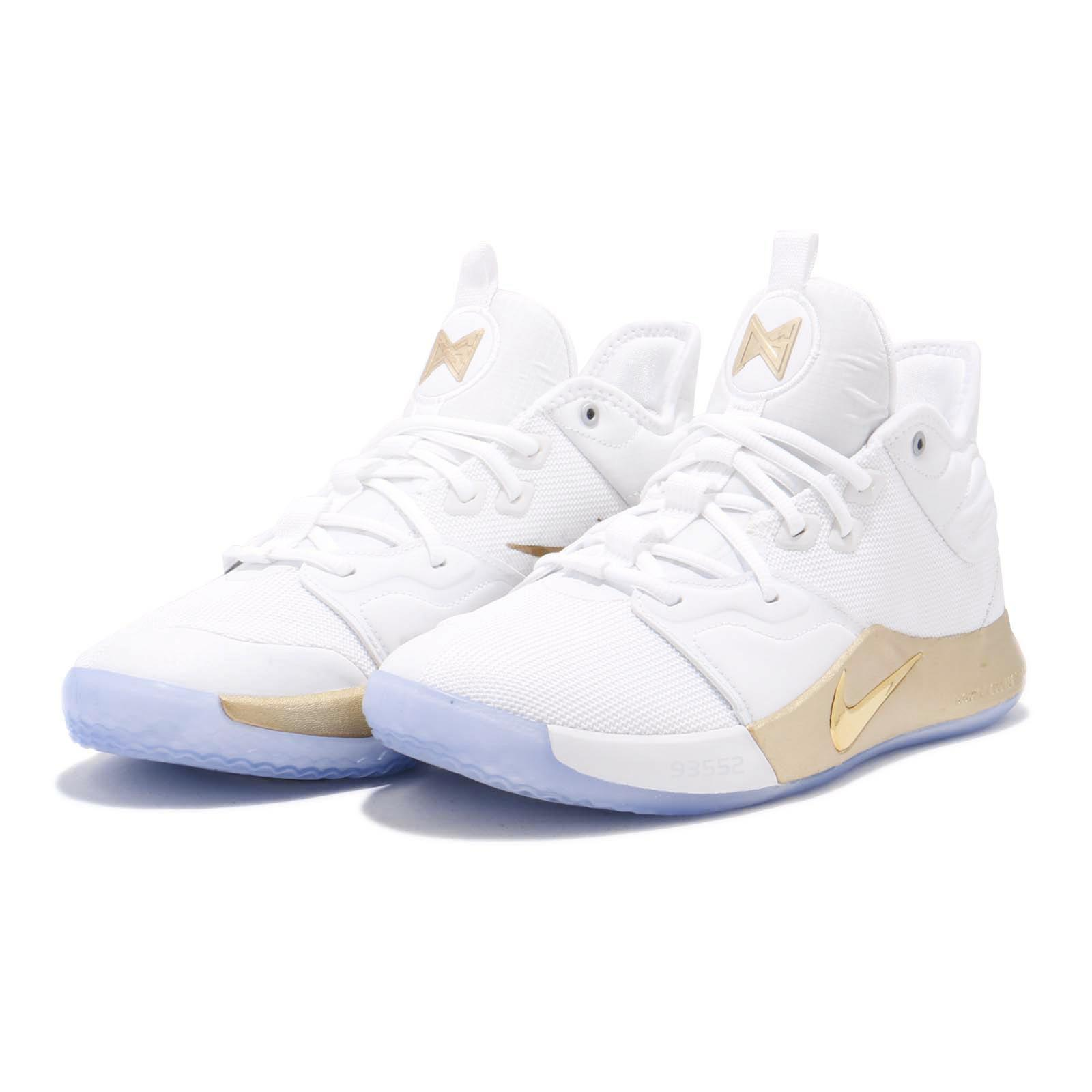 89c623c57ba Details about Nike PG 3 NASA EP Apollo Missions White Gold Paul George Mens  Shoes CI2667-100