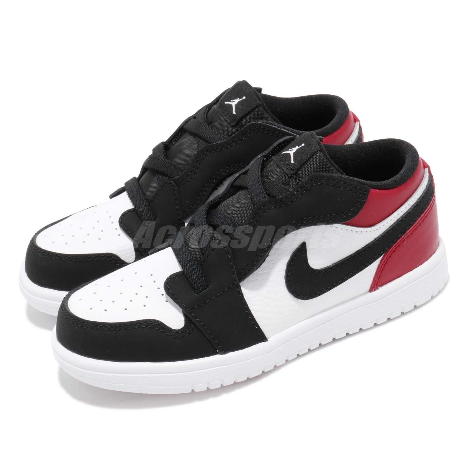 cheap for discount 8a4a7 424ba Details about Nike Jordan 1 Low ALT TD I AJ1 Black Toe Red Toddler Infant  Shoes CI3436-116