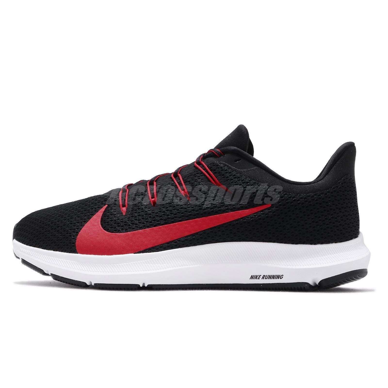Detalles acerca de Nike Quest 2 Universidad Rojo Blanco Negro Hombre  Running Zapatos TENIS CI3787-001- mostrar título original