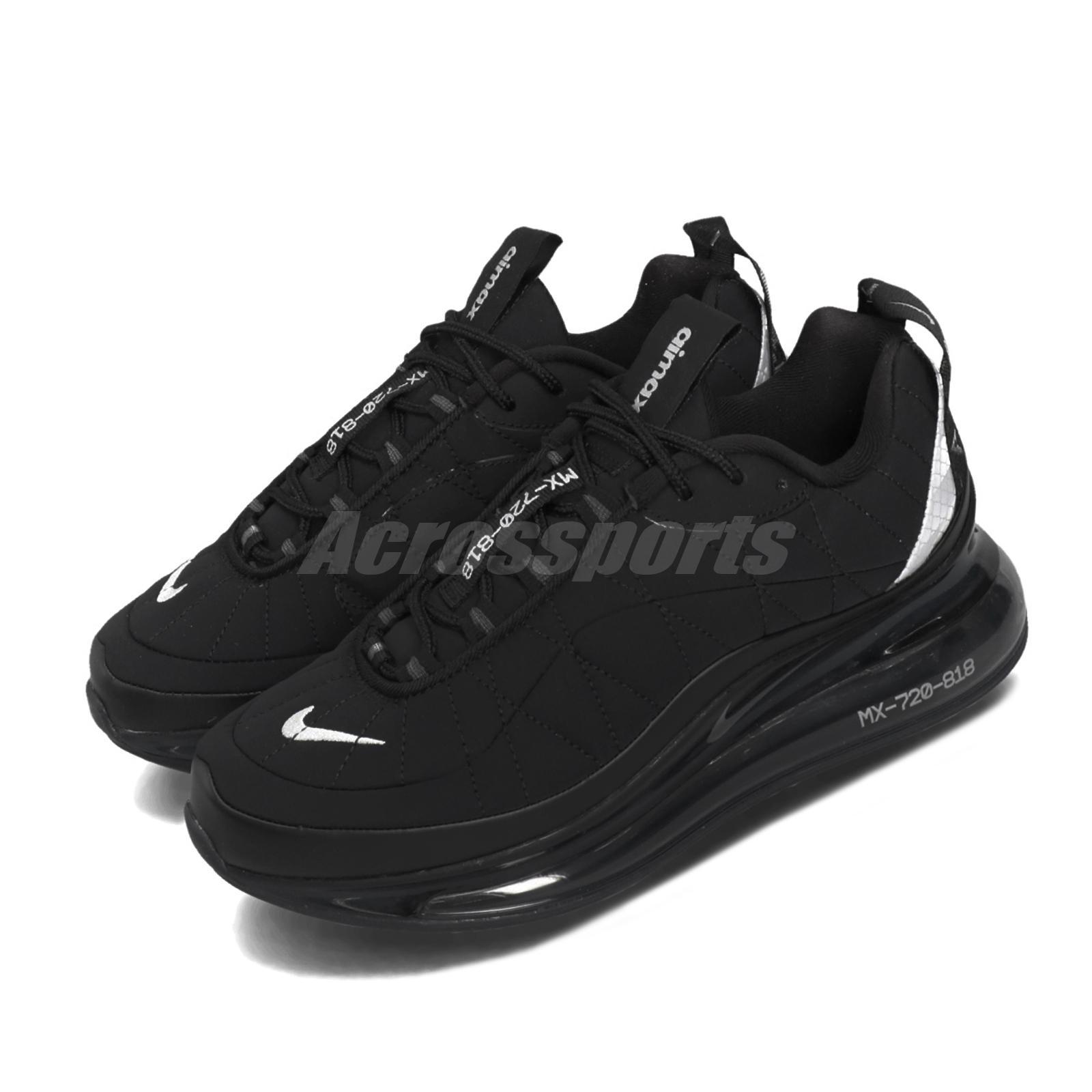 Nike Wmns Mx 720 818 Preto Prata Air Max Feminino Sapatos De