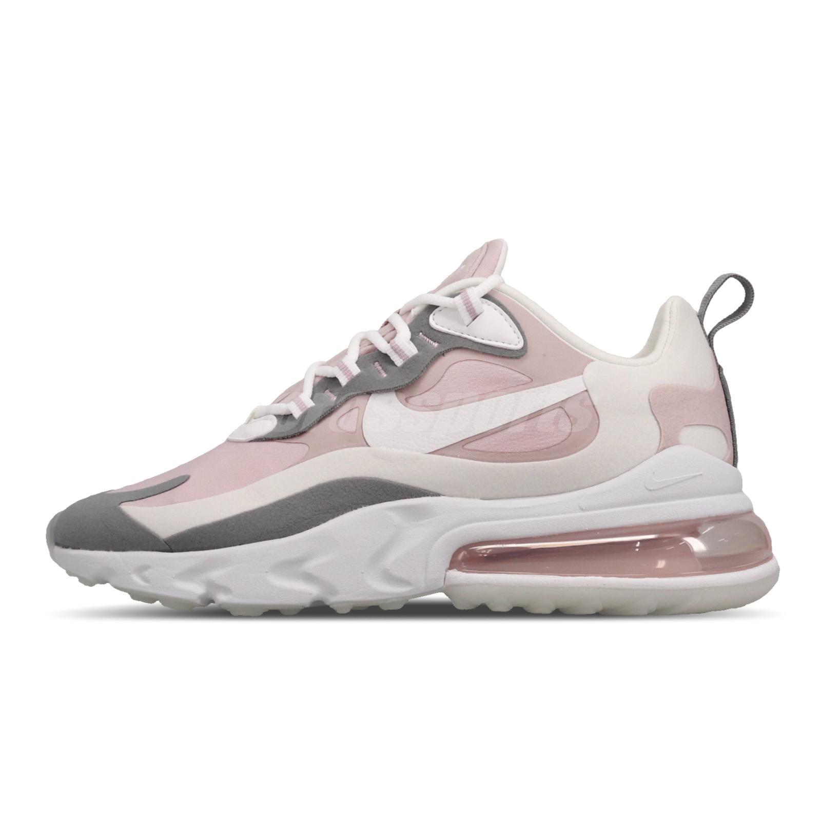 nike air max 270 react grey and pink